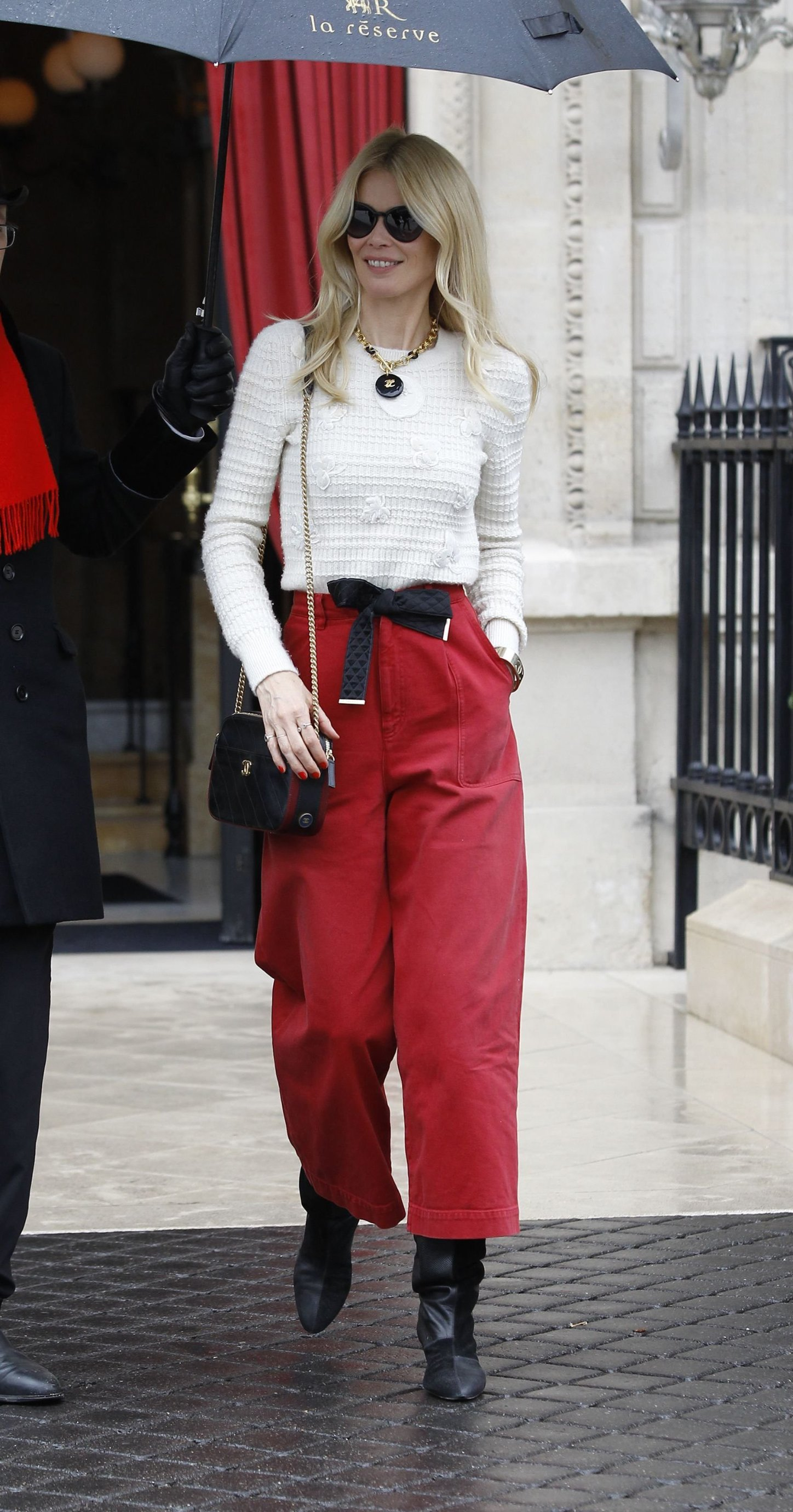 Claudia Schiffer Claudia Schiffer out and about, Paris Fashion Week, France - 05 Mar 2019, Image: 417406190, License: Rights-managed, Restrictions: , Model Release: no, Credit line: Profimedia, TEMP Rex Features