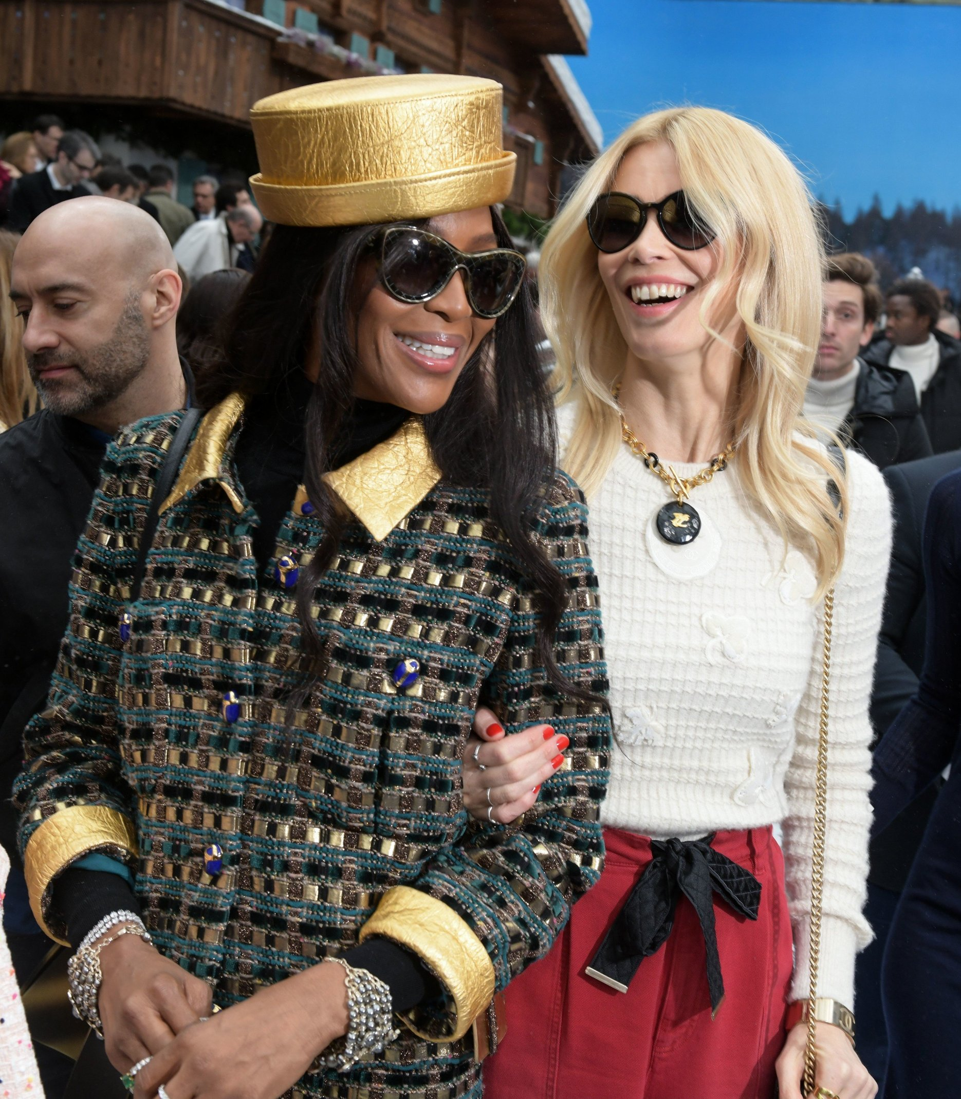 Naomi Campbell and Claudia Schiffer in the front row Chanel show, Front Row, Fall Winter 2019, Paris Fashion Week, France - 05 Mar 2019, Image: 417332941, License: Rights-managed, Restrictions: , Model Release: no, Credit line: Profimedia, TEMP Rex Features