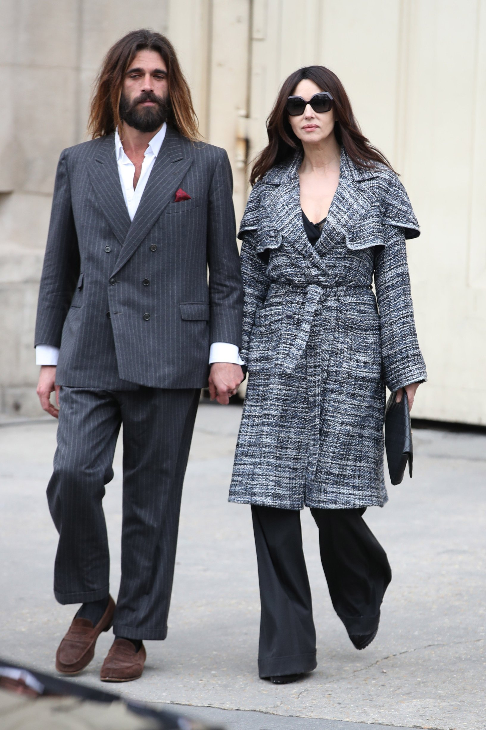 Monica Bellucci Chanel show, Departures, Fall Winter 2019, Paris Fashion Week, France - 05 Mar 2019, Image: 417350872, License: Rights-managed, Restrictions: , Model Release: no, Credit line: Profimedia, TEMP Rex Features