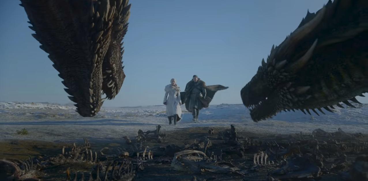 Daenerys Targaryen i Jon Snow prilaze zmajevima Viserionu i Rhaegalu