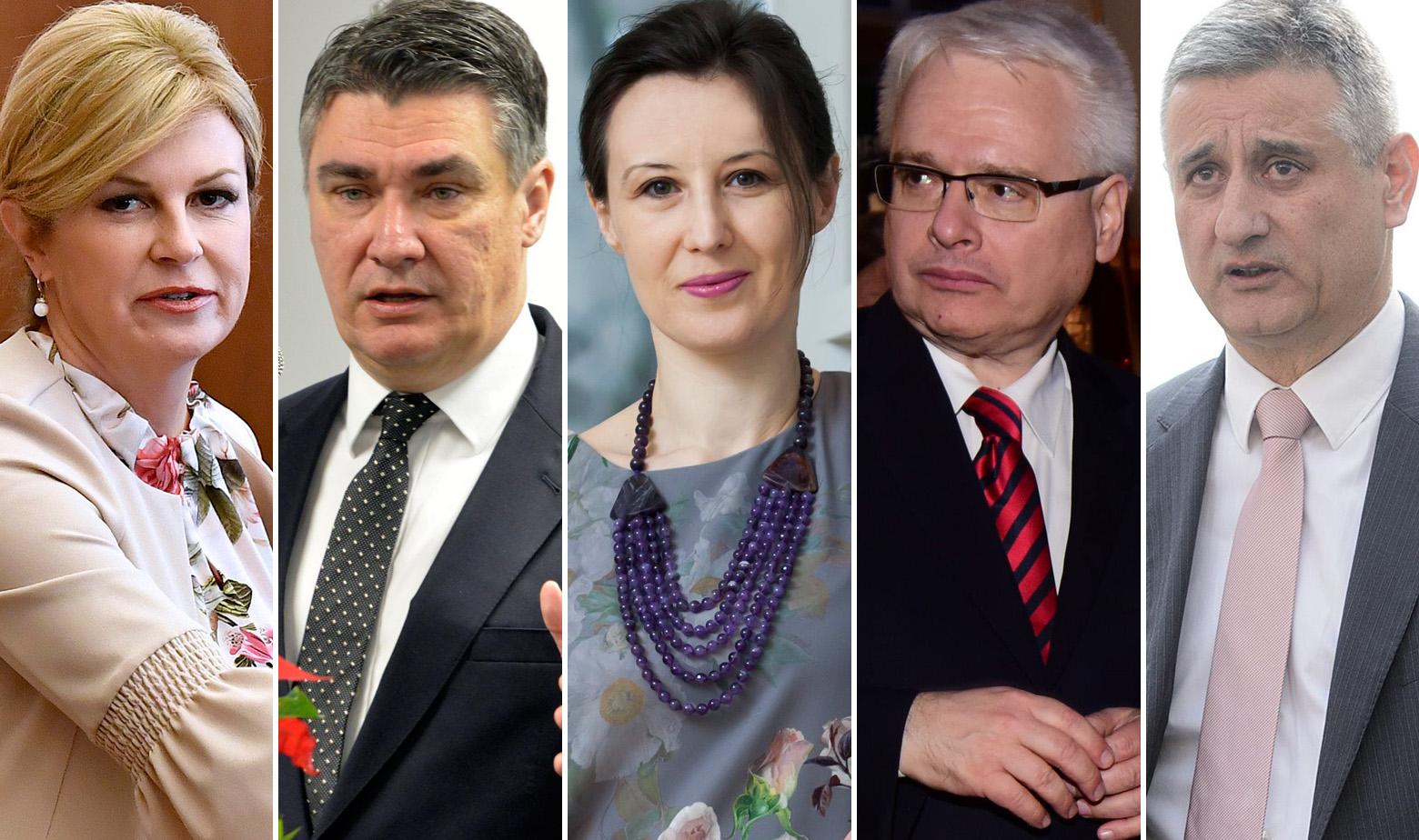Kolinda Grabar Kitarović, Zoran Milanović, Dalija Orešković, Ivo Josipović, Tomislav Karamarko