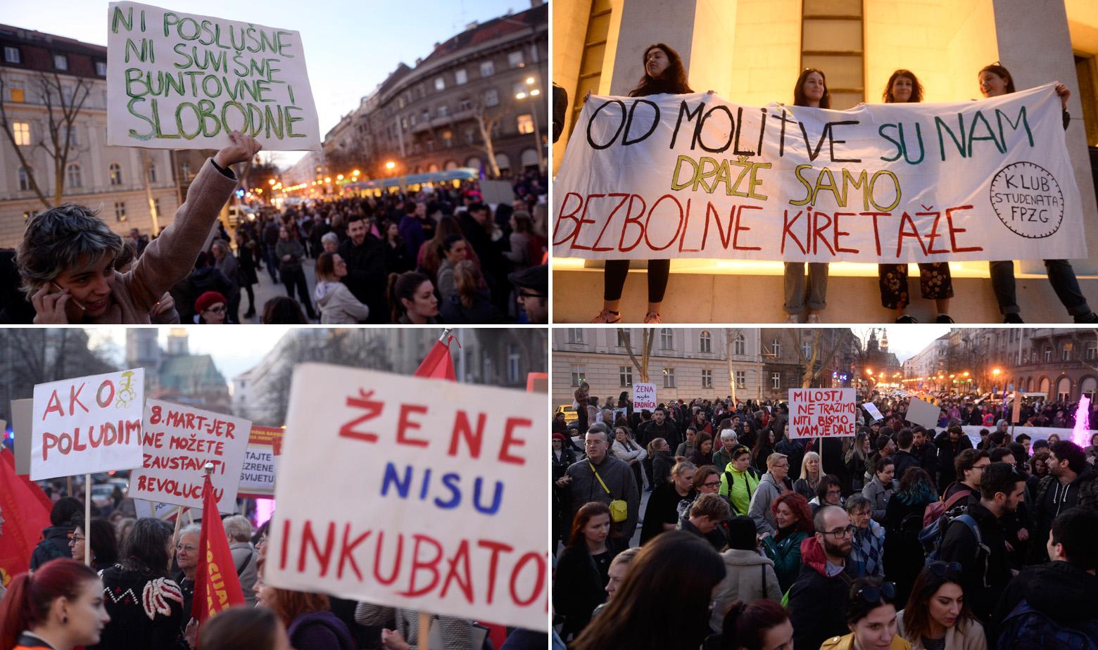 Marš žena u Zagrebu 8. ožujka