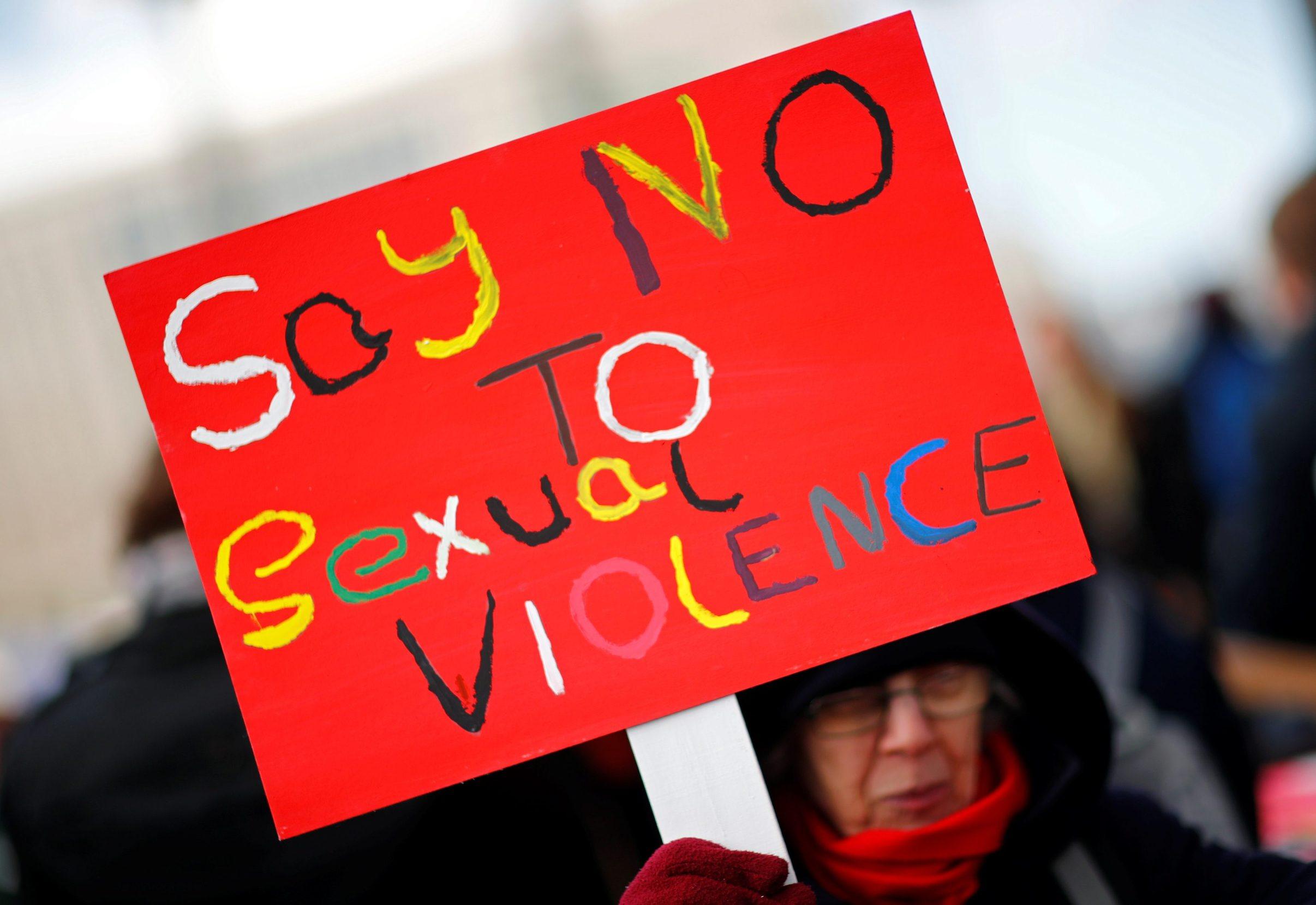 People take part in a march marking International Women's Day in Berlin, Germany, March 8, 2019. REUTERS/Hannibal Hanschke