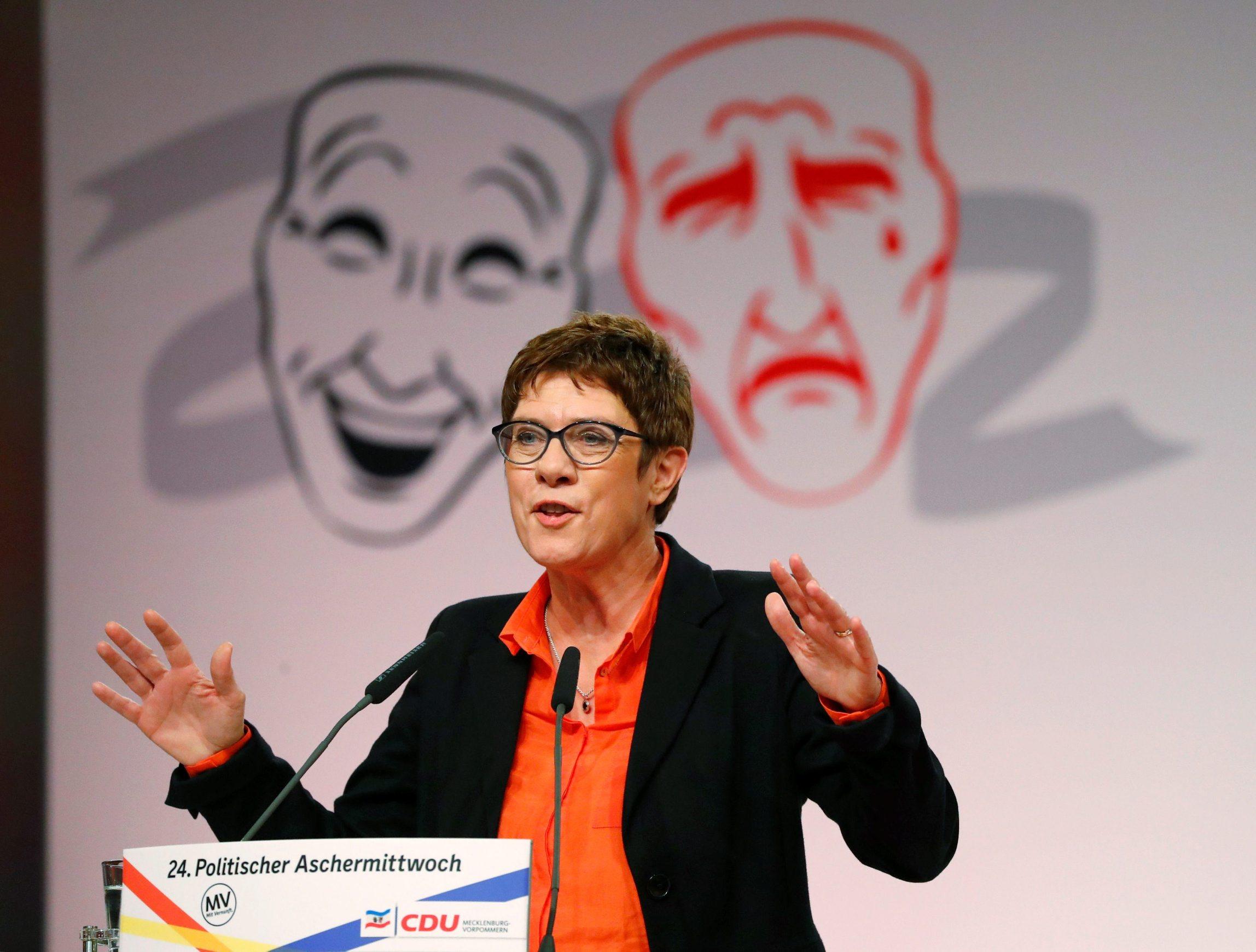 Annegret Kramp-Karrenbauer, predsjednica CDU-a, održala je tradicionalni politički govor na Pepelnicu