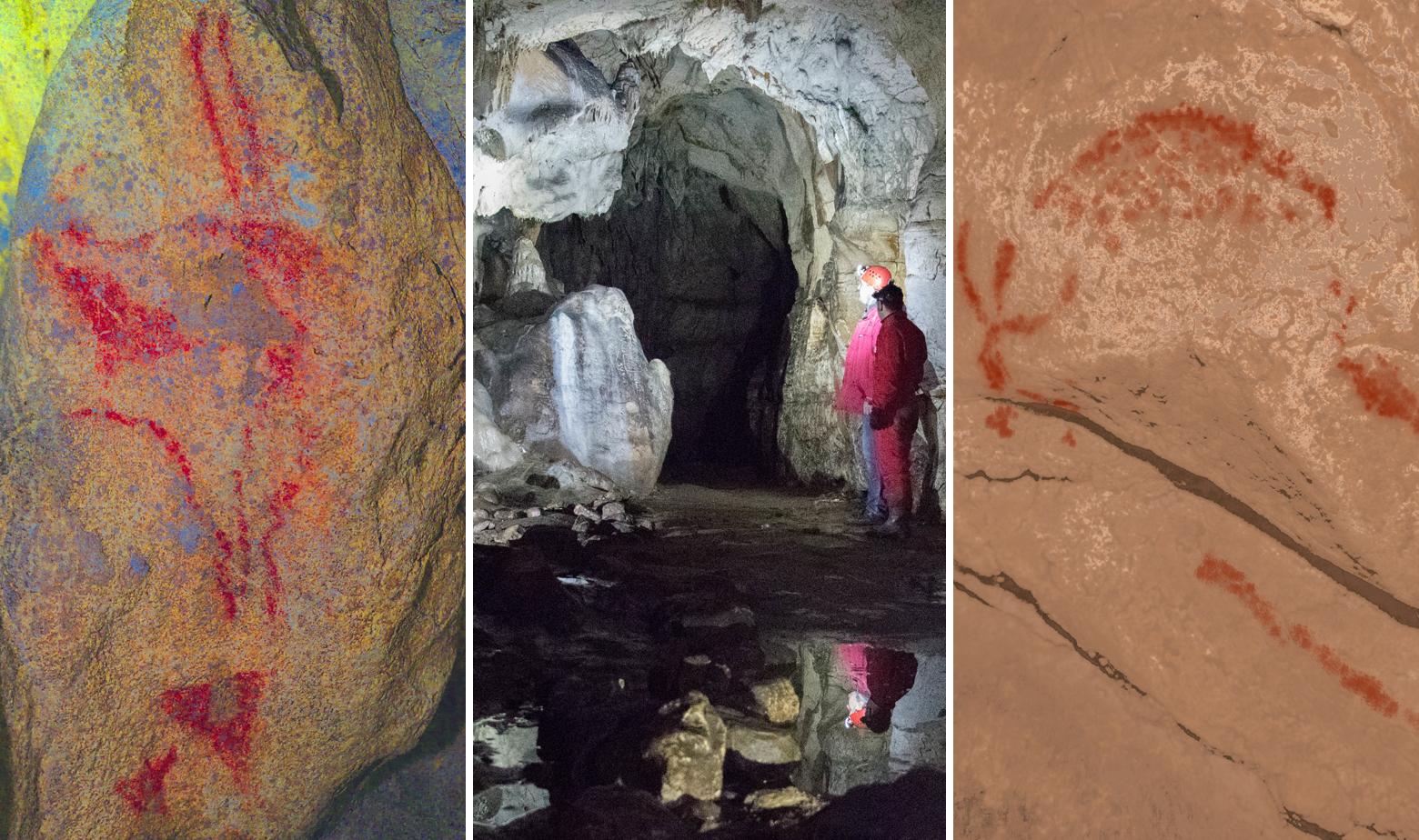 Divokoza i bizon naslikani u Romualdovoj pećini