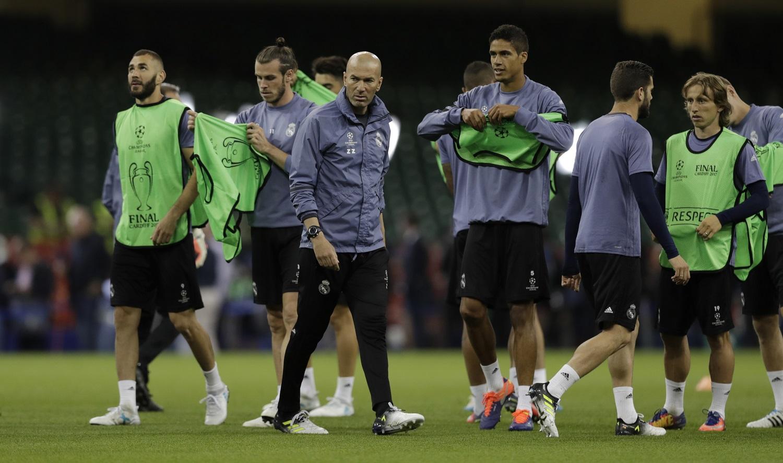Zidane Modrić Varane Benzema Bale
