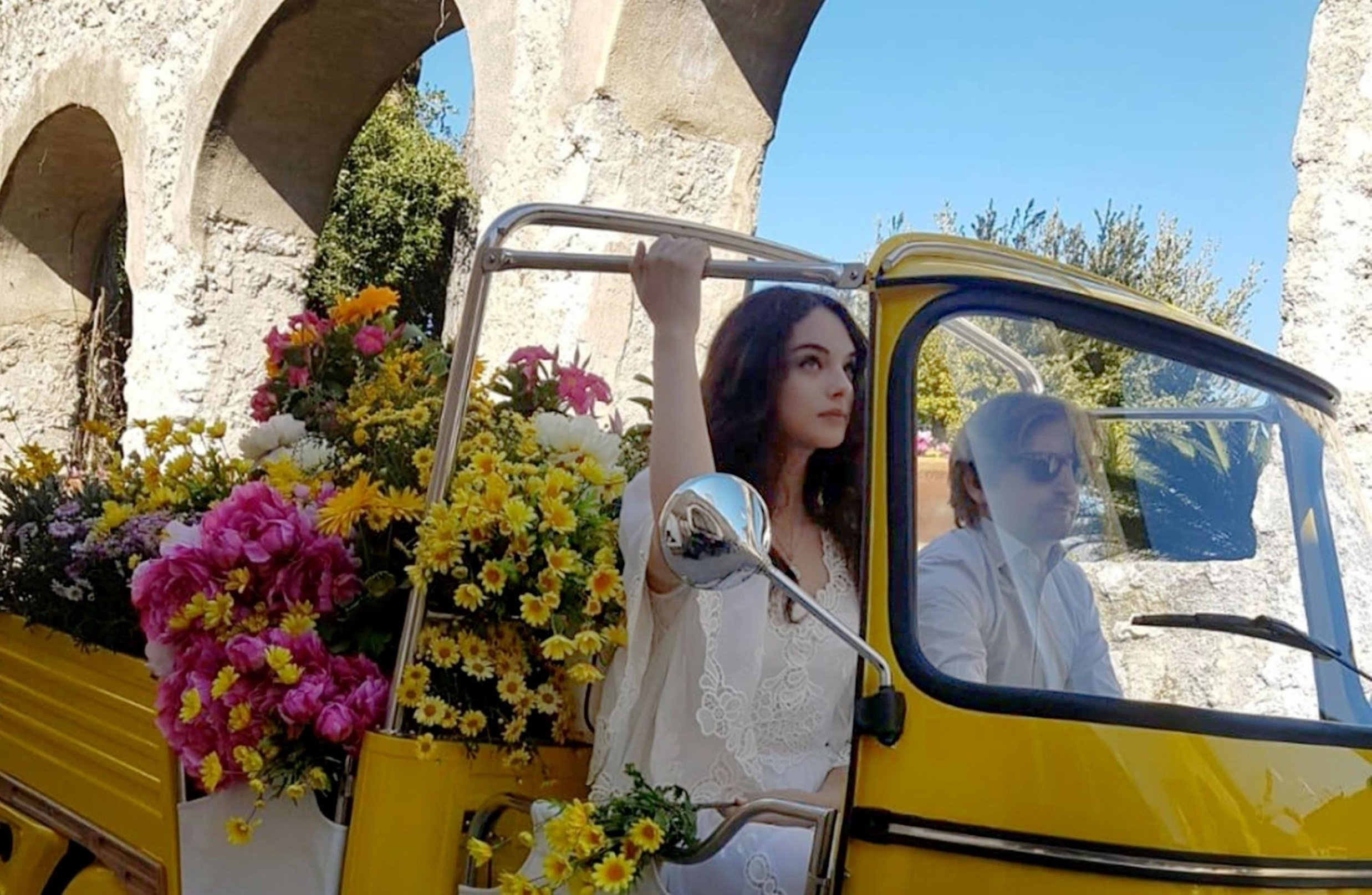 BGUK_1544546 - ** RIGHTS: WORLDWIDE EXCEPT IN ITALY ** Ravello, ITALY  - *EXCLUSIVE*  - The daughter of Vincent Cassel and Monica Bellucci fourteen years old model Deva Cassel is the face of the new perfume