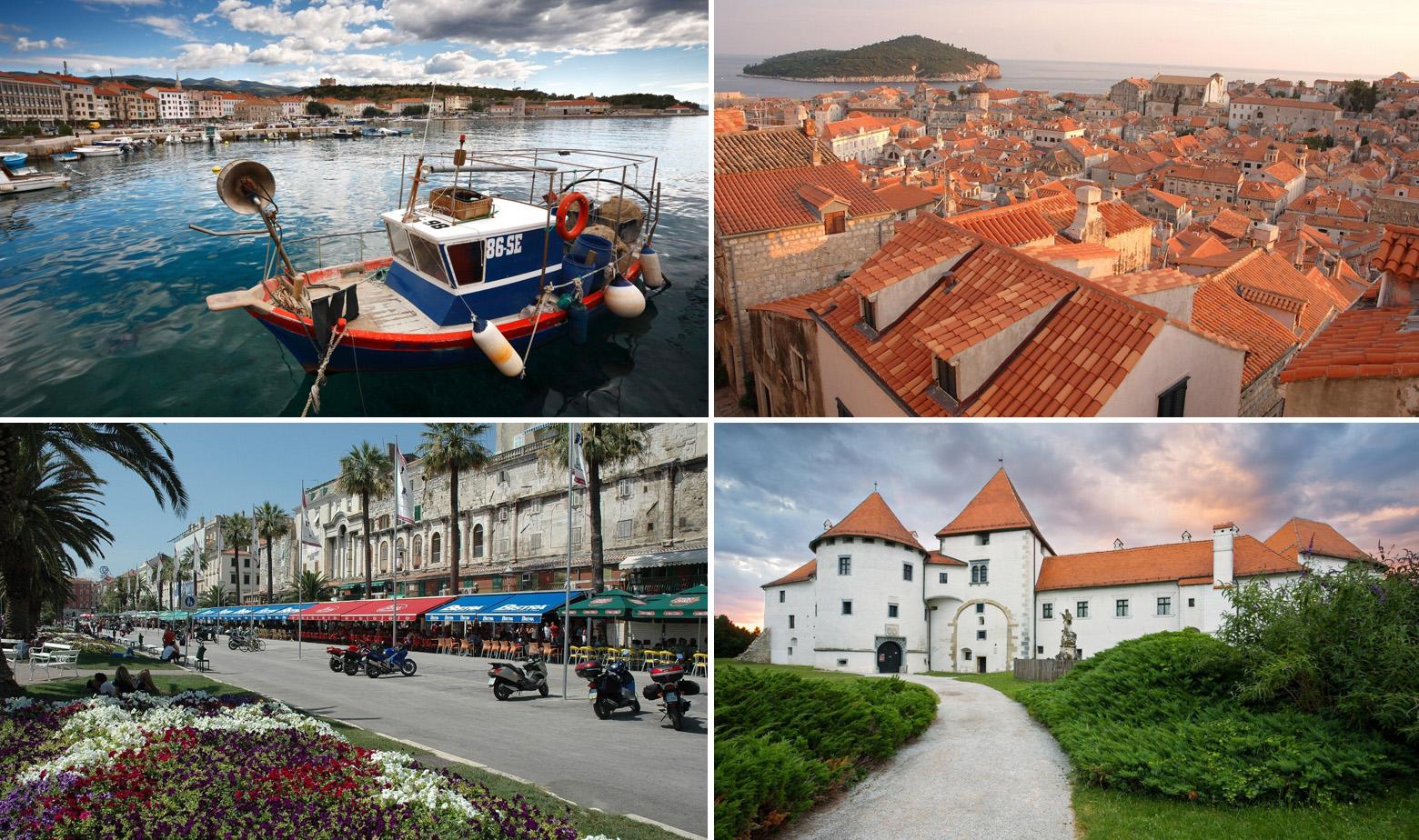 Senj, Dubrovnik, Split, Varaždin
