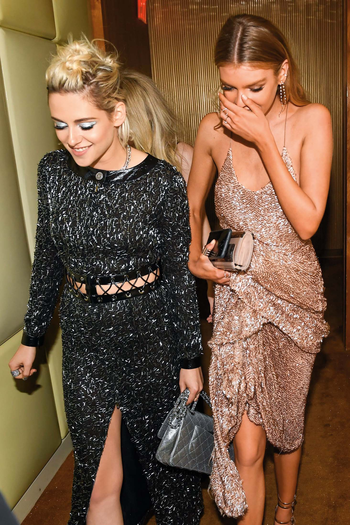 EXCLUSIVE /Kristen Stewart, Stella Maxwell Costume Institute Benefit Gala celebrating 'Manus x Machina: Fashion in an Age of Technology' exhibition, After the Met with Apple Music Party, Boom Boom Room, New York, America - 02 May 2016, Image: 283405185, License: Rights-managed, Restrictions: EXCLUSIVE, Model Release: no, Credit line: Profimedia, TEMP Rex Features