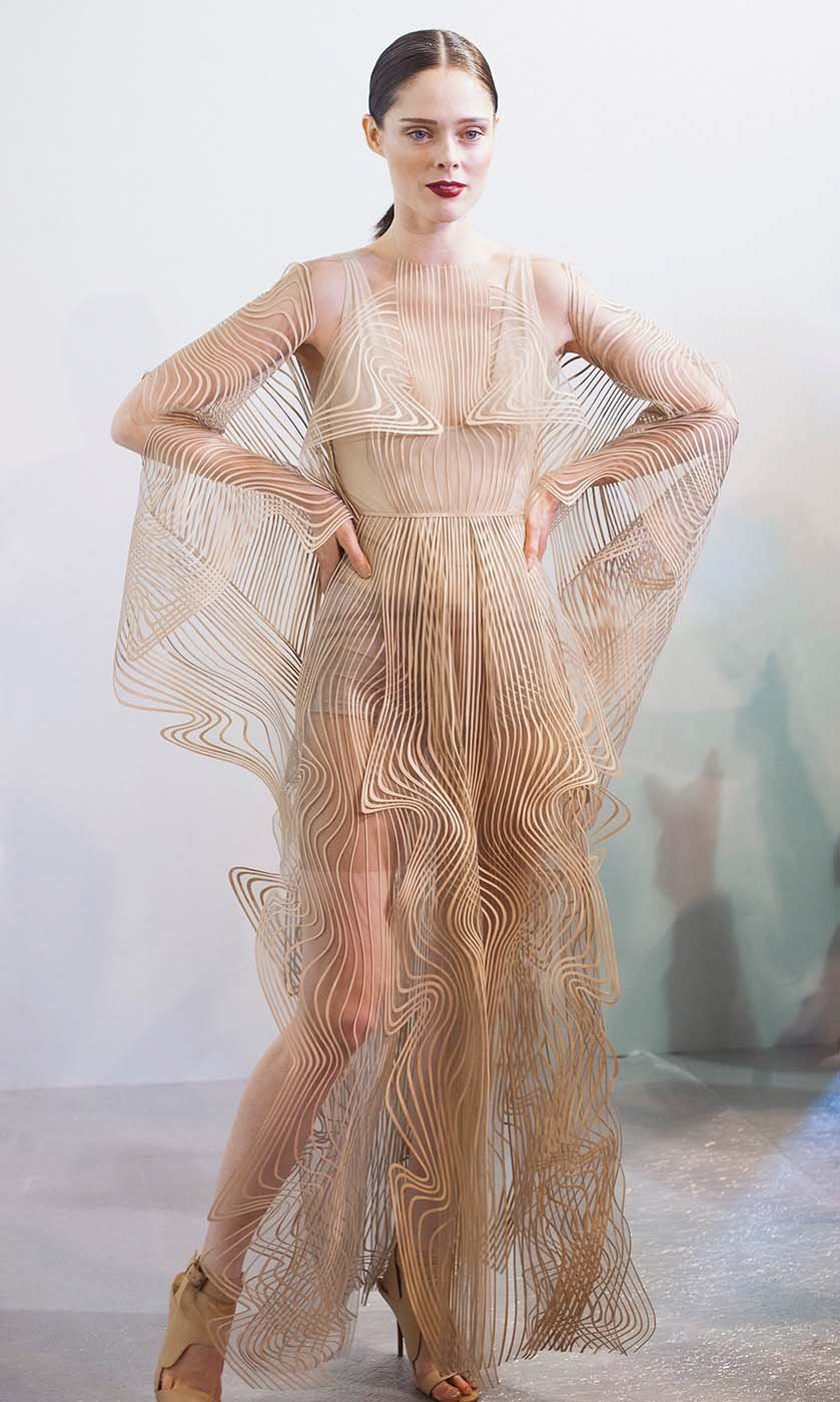 PARIS, FRANCE - JANUARY 21:  Model Coco Rocha poses backstage prior to the Iris Van Herpen Spring Summer 2019 show as part of Paris Fashion Week on January 21, 2019 in Paris, France.  (Photo by Kay-Paris Fernandes/Getty Images)