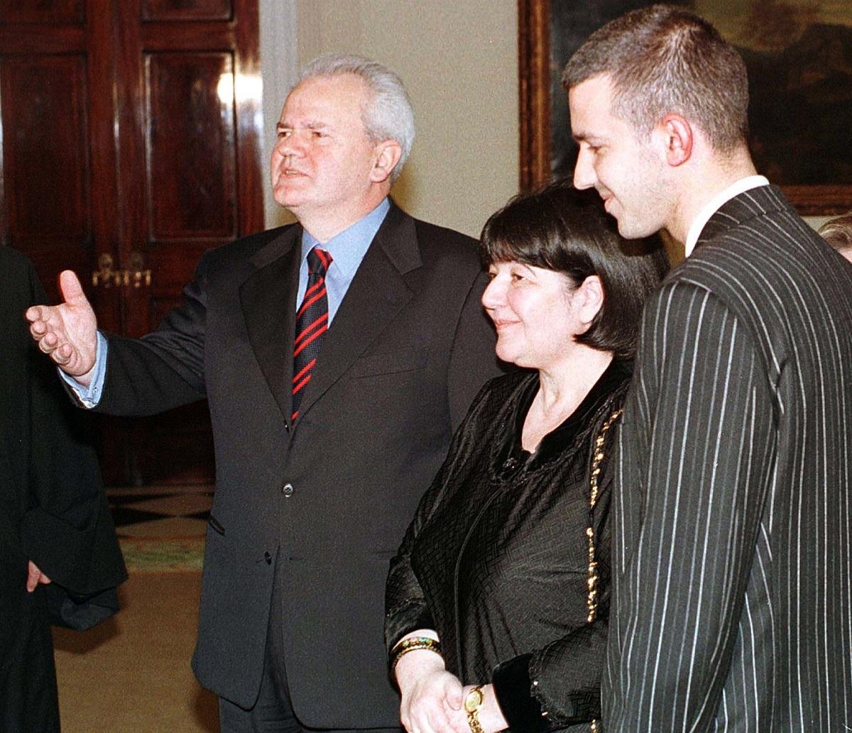 Slobodan Milošević, Mira Marković i njihov sin Marko Milošević