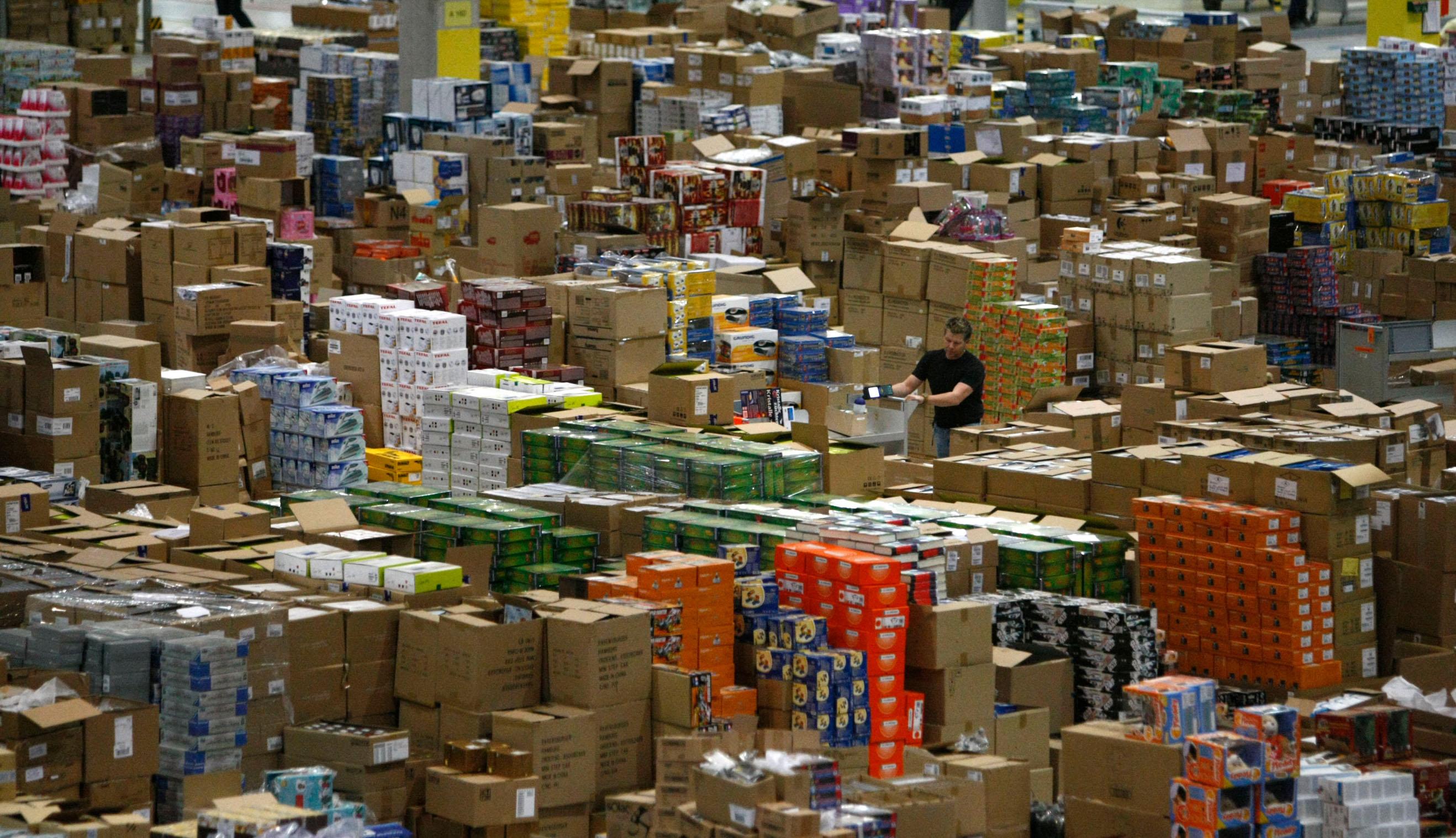 Ilustracija, Amazonovo skladište u Leipzigu