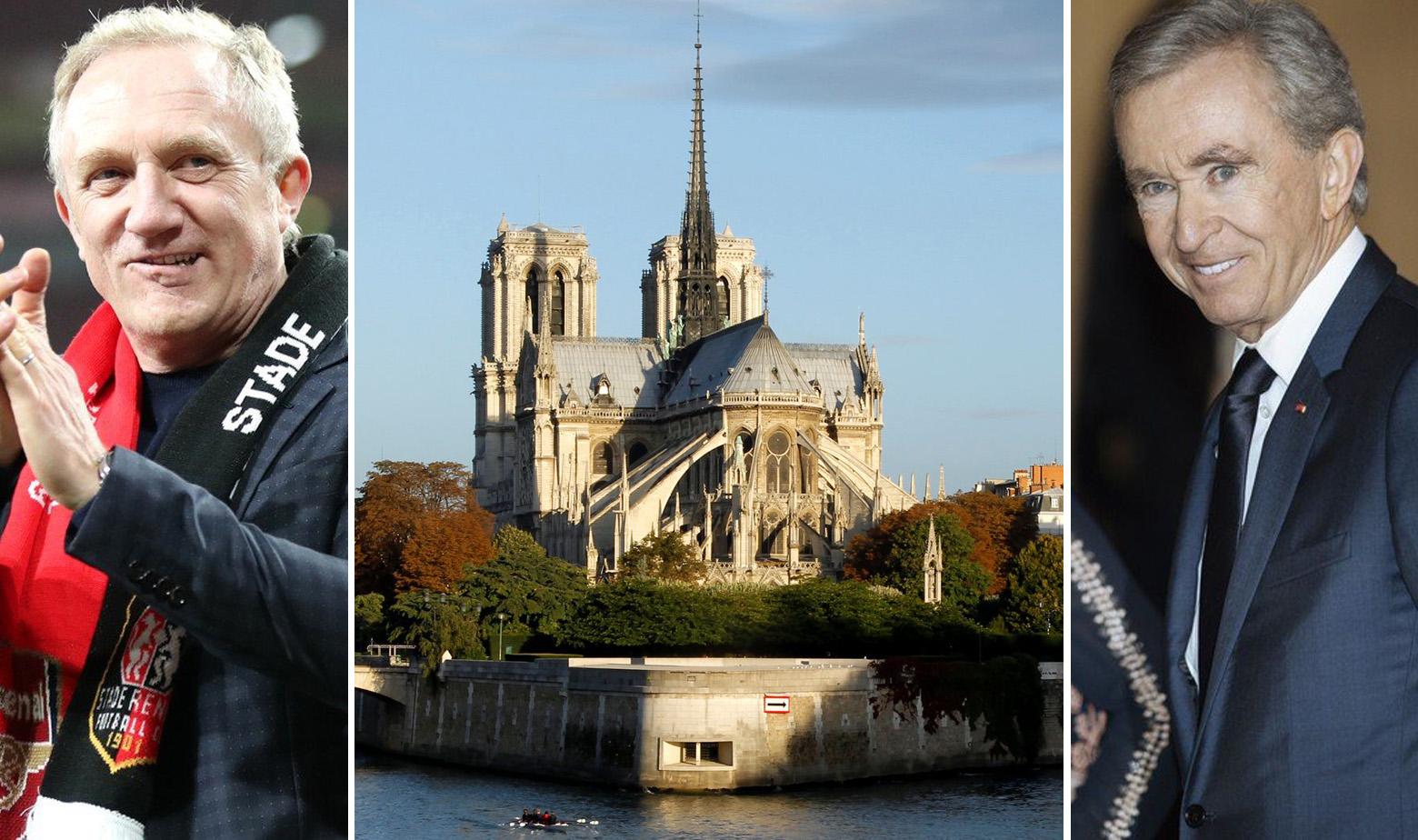 Francois Pinault, katedrala Notre-Dame prije požara i Bernard Arnault