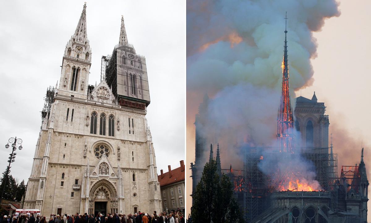 Zagrebačka katedrala i Notre Dame