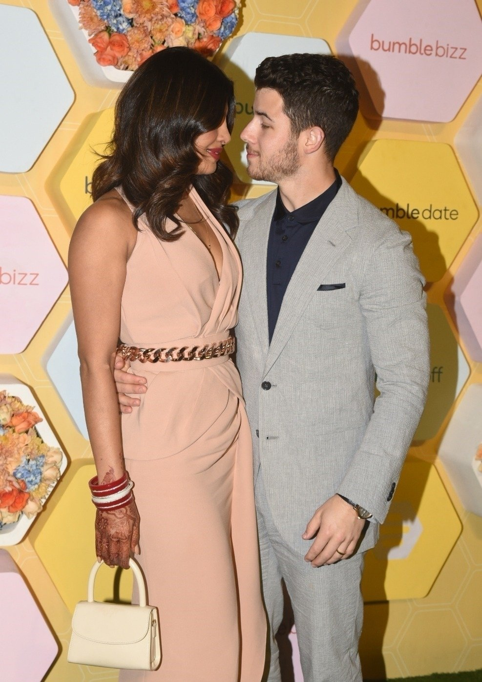 BGUK_1425525 - Delhi, INDIA  - Priyanka Chopra and Nick Jonas seen arriving at Bumble launch party in New Delhi.  Pictured: Priyanka Chopra and Nick Jonas  BACKGRID UK 5 DECEMBER 2018, Image: 400650331, License: Rights-managed, Restrictions: , Model Release: no, Credit line: Profimedia, Backgrid UK
