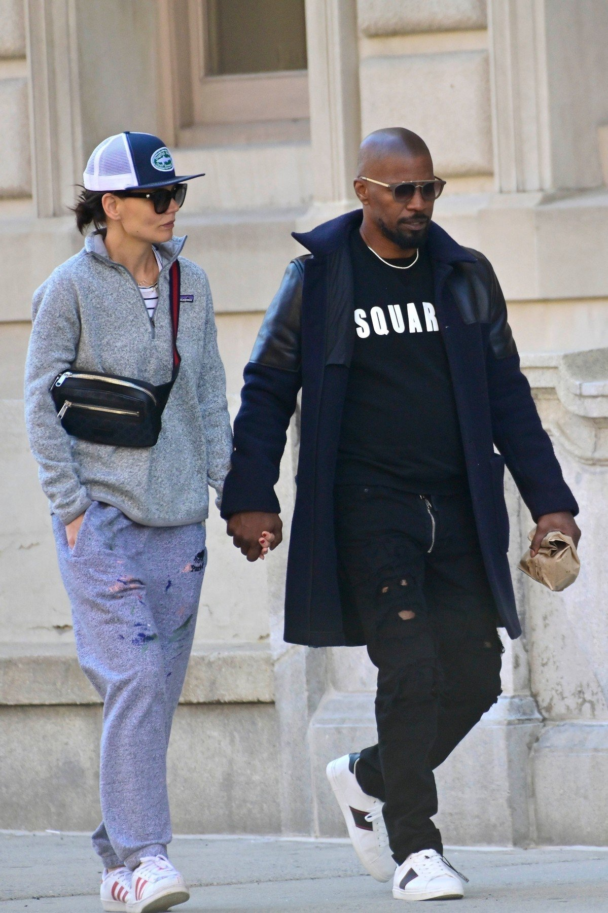 ** RIGHTS: WORLDWIDE EXCEPT IN FRANCE, GERMANY, POLAND ** New York, NY  - *EXCLUSIVE*  - Katie Holmes and Jamie Foxx show their love for each other as they hold hands after brunch. The duo are seen heading to Katie's apartment.  Pictured: Jamie Foxx, Katie Holmes  BACKGRID USA 16 APRIL 2019, Image: 426442956, License: Rights-managed, Restrictions: , Model Release: no, Credit line: Profimedia, Backgrid USA