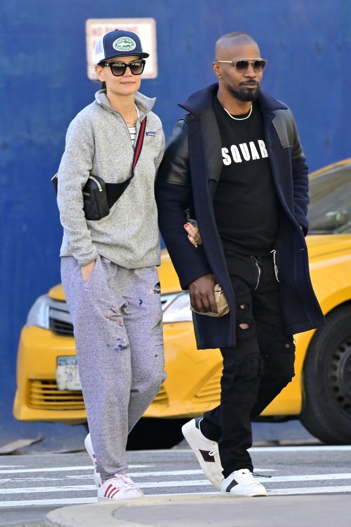 ** RIGHTS: WORLDWIDE EXCEPT IN FRANCE, GERMANY, POLAND ** New York, NY  - *EXCLUSIVE*  - Katie Holmes and Jamie Foxx show their love for each other as they hold hands after brunch. The duo are seen heading to Katie's apartment.  Pictured: Jamie Foxx, Katie Holmes  BACKGRID USA 16 APRIL 2019, Image: 426442959, License: Rights-managed, Restrictions: , Model Release: no, Credit line: Profimedia, Backgrid USA
