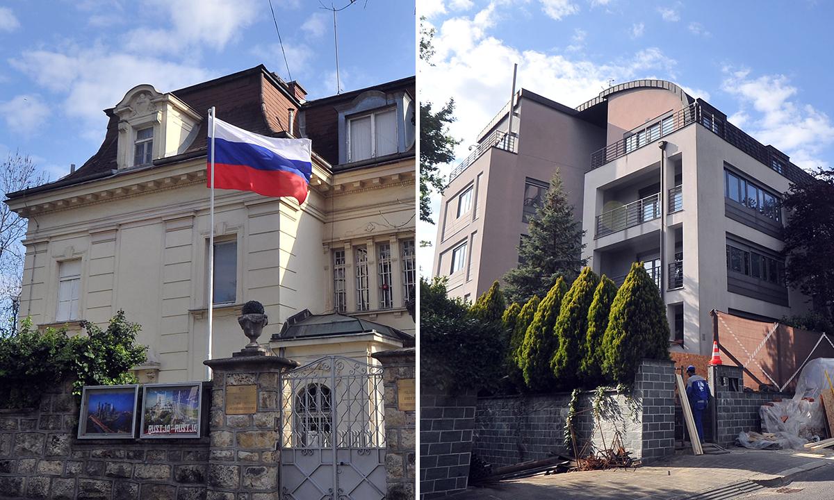 Stara i nova lokacija Veleposlanstvo Ruske Federacije u Republici Hrvatskoj