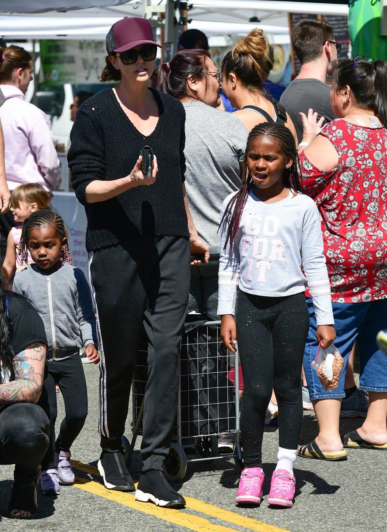 Charlize Theron is seen with daughters Jackson and August in Los Angeles, California. ***SPECIAL INSTRUCTIONS*** Please pixelate children's faces before publication.***. 31 Mar 2019, Image: 423460159, License: Rights-managed, Restrictions: World Rights, Model Release: no, Credit line: Profimedia, Mega Agency
