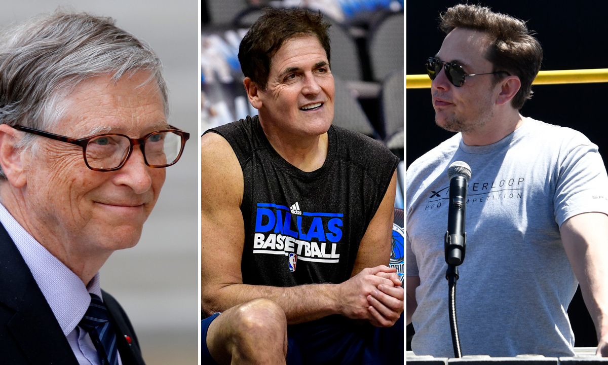 Bill Gates, Mark Cuban i Elon Musk