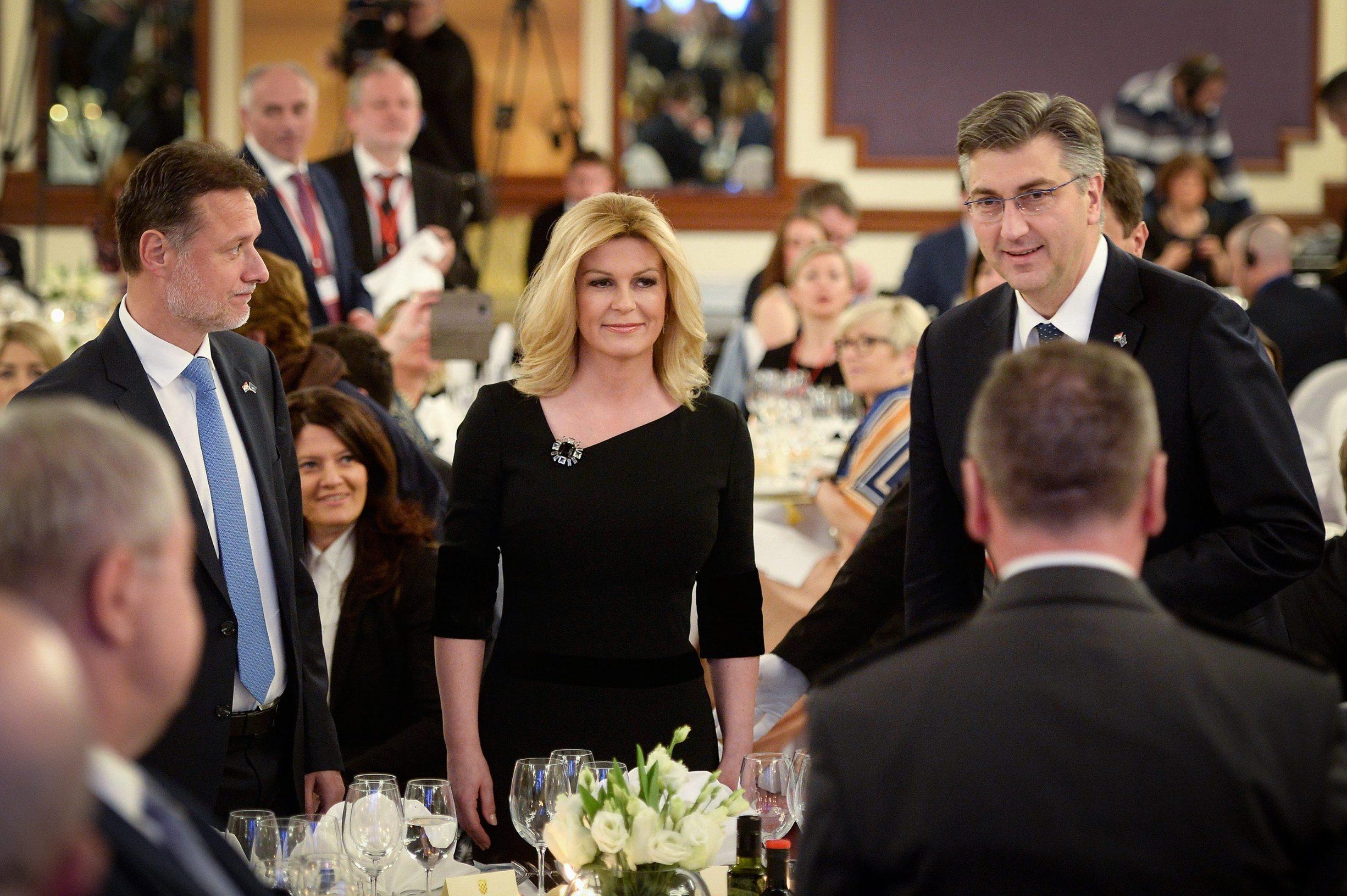Ključni ljudi predsjedanja EU: predsjednik Sabora Gordan Jandroković, predsjednica Kolinda Grabar-Kitarović i premijer Andrej Plenković