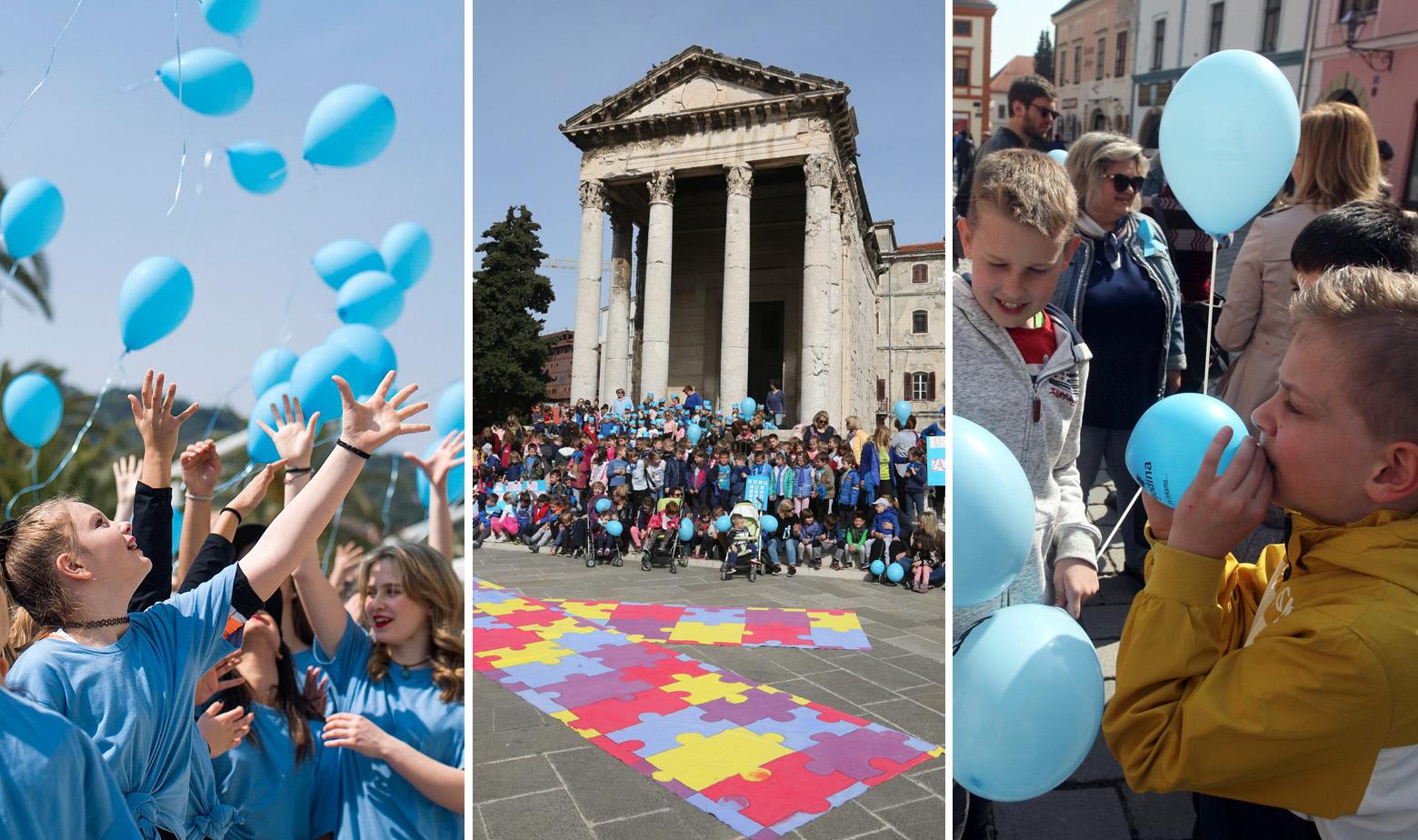 Obilježavanje svjetskog dana svjesnosti o autizmu u Splitu, Puli i Varaždinu