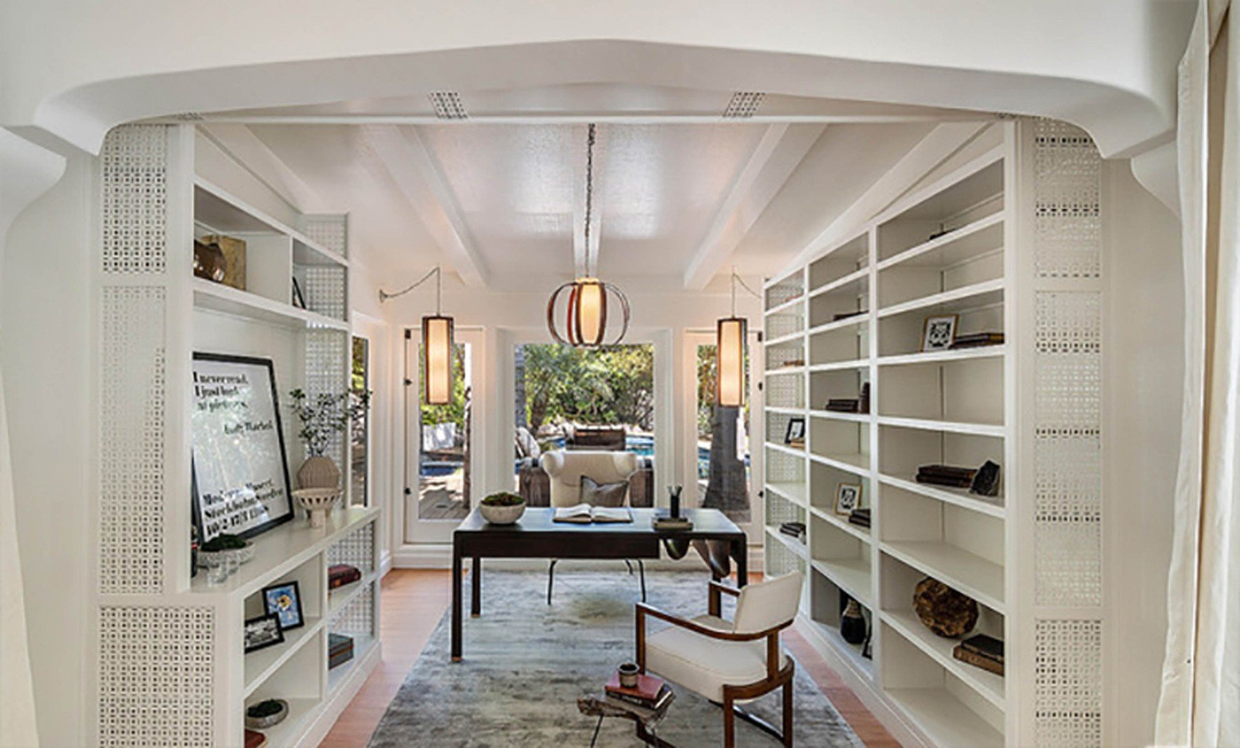 2-4-2019  Jessica Alba is looking to sell her home in Beverly Hills, Los Angeles for .195 million having recently purchased a larger house. With 5,300 square feet of living space, there are 5 bedrooms and 7 bathrooms. Built in the mid-1970s, the house sits on almost half of an acre of land behind large security gates.  Pictured: Jessica Alba's house, Image: 423689992, License: Rights-managed, Restrictions: , Model Release: no, Credit line: Profimedia, Planet