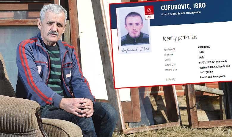 Šefik Ćufurović, Ibrin otac; desno: Interpolova tjeralica za Ibru Ćufurovića