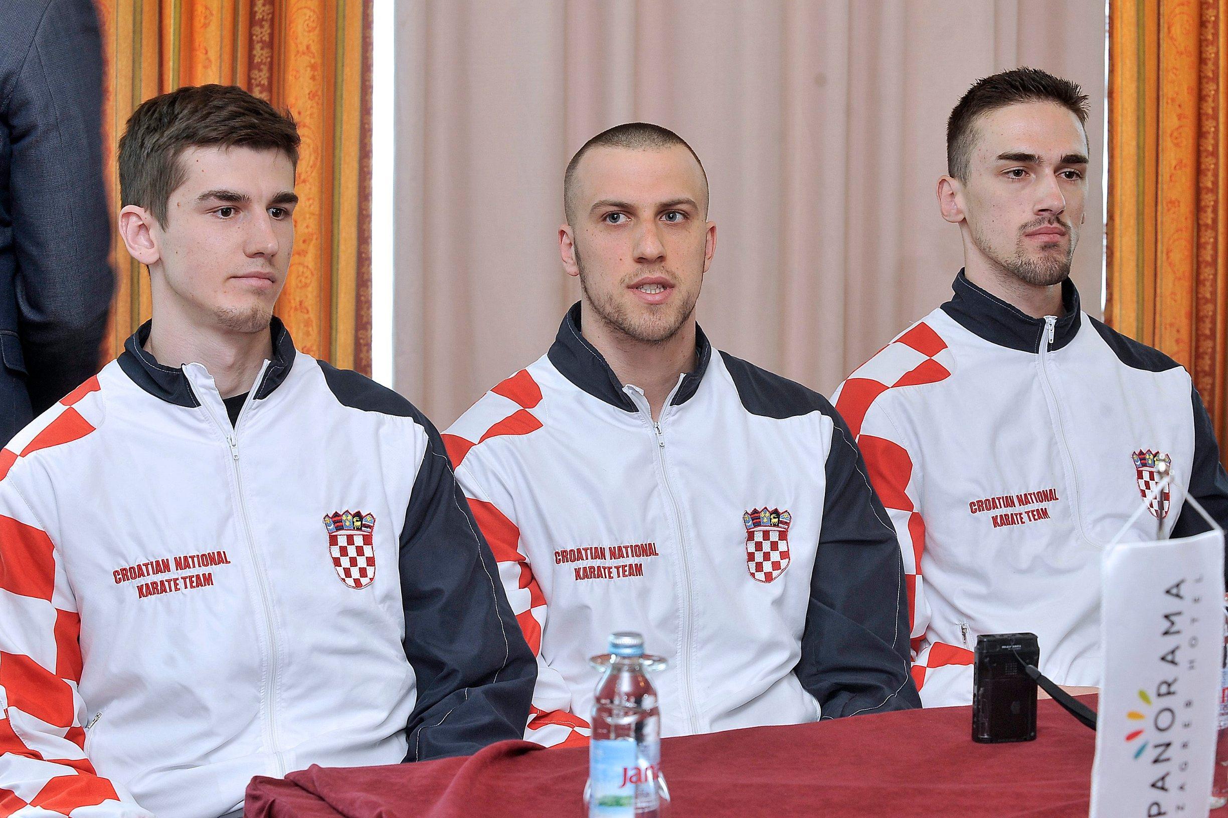Na fotografiji:  Enes Garibović, Zvonimir Živković, Ivan Kvesić
