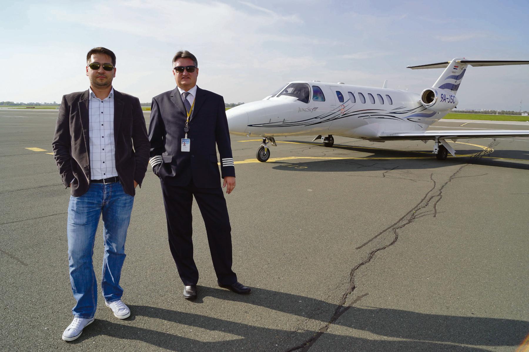 Domaća aviokompanija Jung Sky, Vedran Jung, COO i IT menadžer (lijevo), Krešimir Jung, glavni direktor (CEO) (desno)