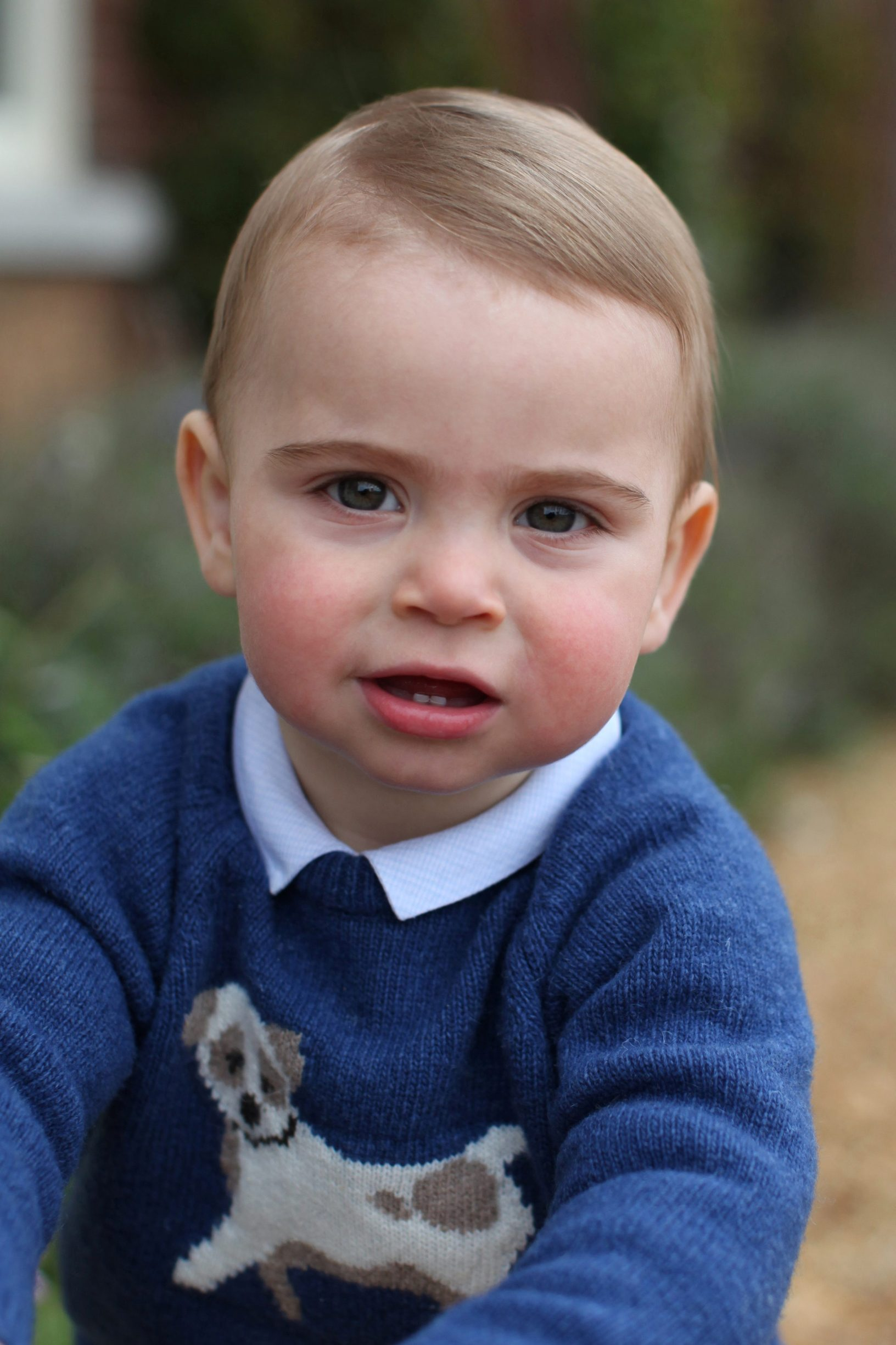 Undated handout photo of Britain's Prince Louis taken by his mother Catherine, Duchess of Cambridge, earlier this month at their home in Norfolk, Britain April 22, 2019. Duchess of Cambridge/Handout via REUTERS    THIS PICTURE IS PROVIDED BY A THIRD PARTY. NEWS EDITORIAL USE ONLY. NO COMMERCIAL USE. NO MERCHANDISING, ADVERTISING, SOUVENIRS, MEMORABILIA or COLOURABLY SIMILAR. NOT FOR USE AFTER 31 DECEMBER, 2019 WITHOUT PRIOR PERMISSION FROMKENSINGTONPALACE. NO CHARGE SHOULD BE MADE FOR THE SUPPLY, RELEASE OR PUBLICATION OF THE PHOTOGRAPH. THE PHOTOGRAPH MUST NOT BE DIGITALLY ENHANCED, MANIPULATED OR MODIFIED IN ANY MANNER OR FORM AND MUST INCLUDE ALL OF THE INDIVIDUALS IN THE PHOTOGRAPH WHEN PUBLISHED. MANDATORY CREDIT: The Duchess of Cambridge