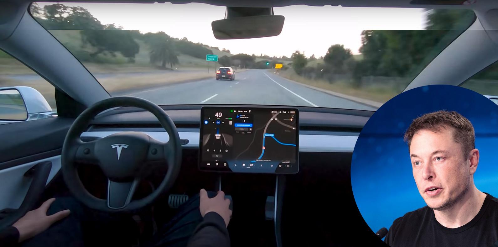 Elon Musk, samovozeći automobil Tesla