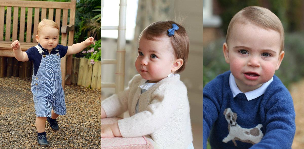 Portreti za prvi rođendan princa Georgea, princeze Charlotte i princa Louisa