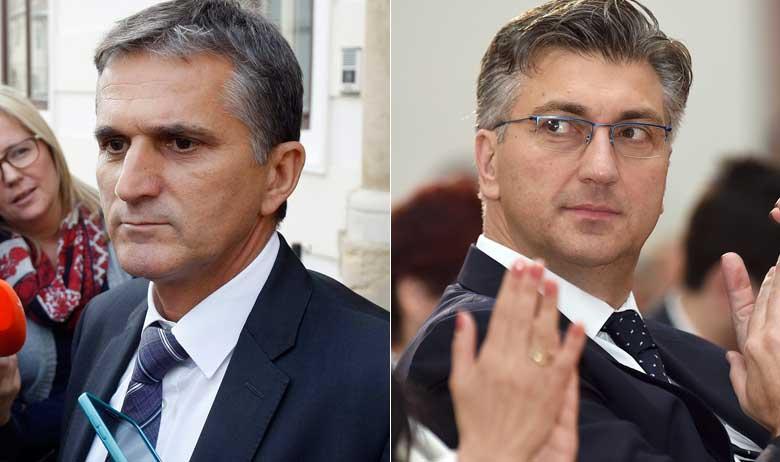 Goran Marić i Andrej Plenković