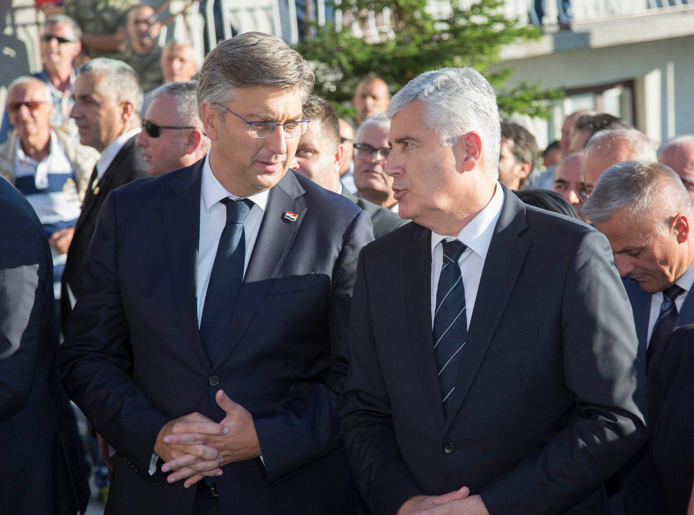 Andrej Plenković i Dragan Čović