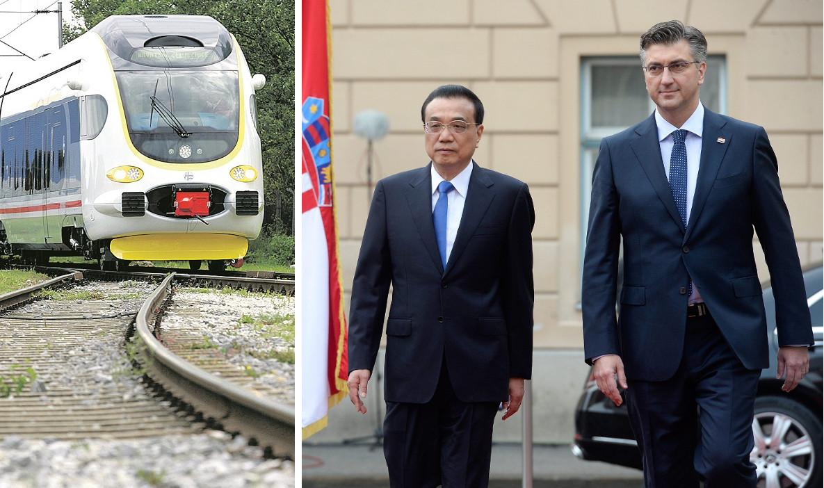 Ilustracija, vlak, Li Keqiang i Andrej Plenković