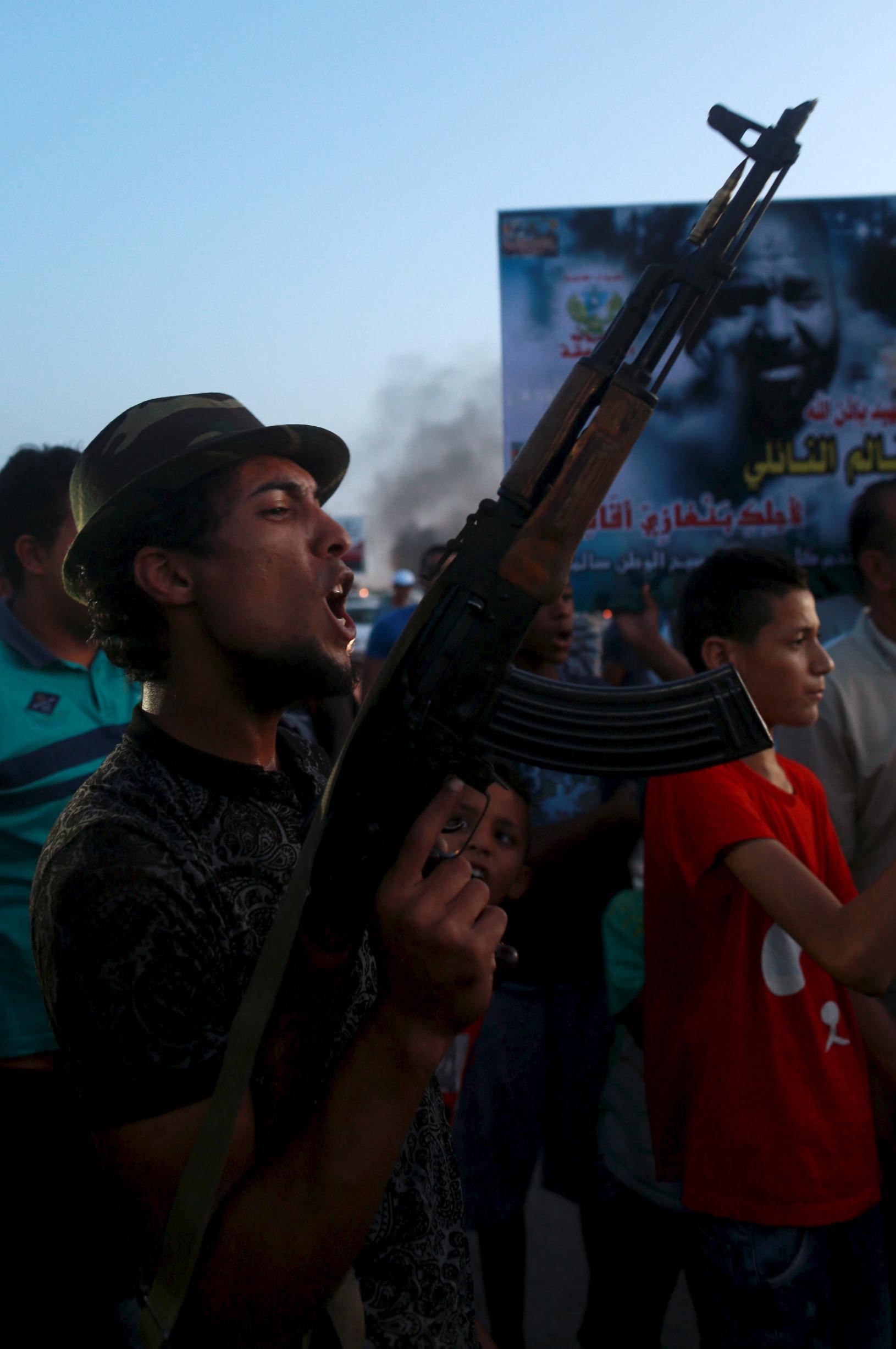 Ilustracija: Protesti u Libiji