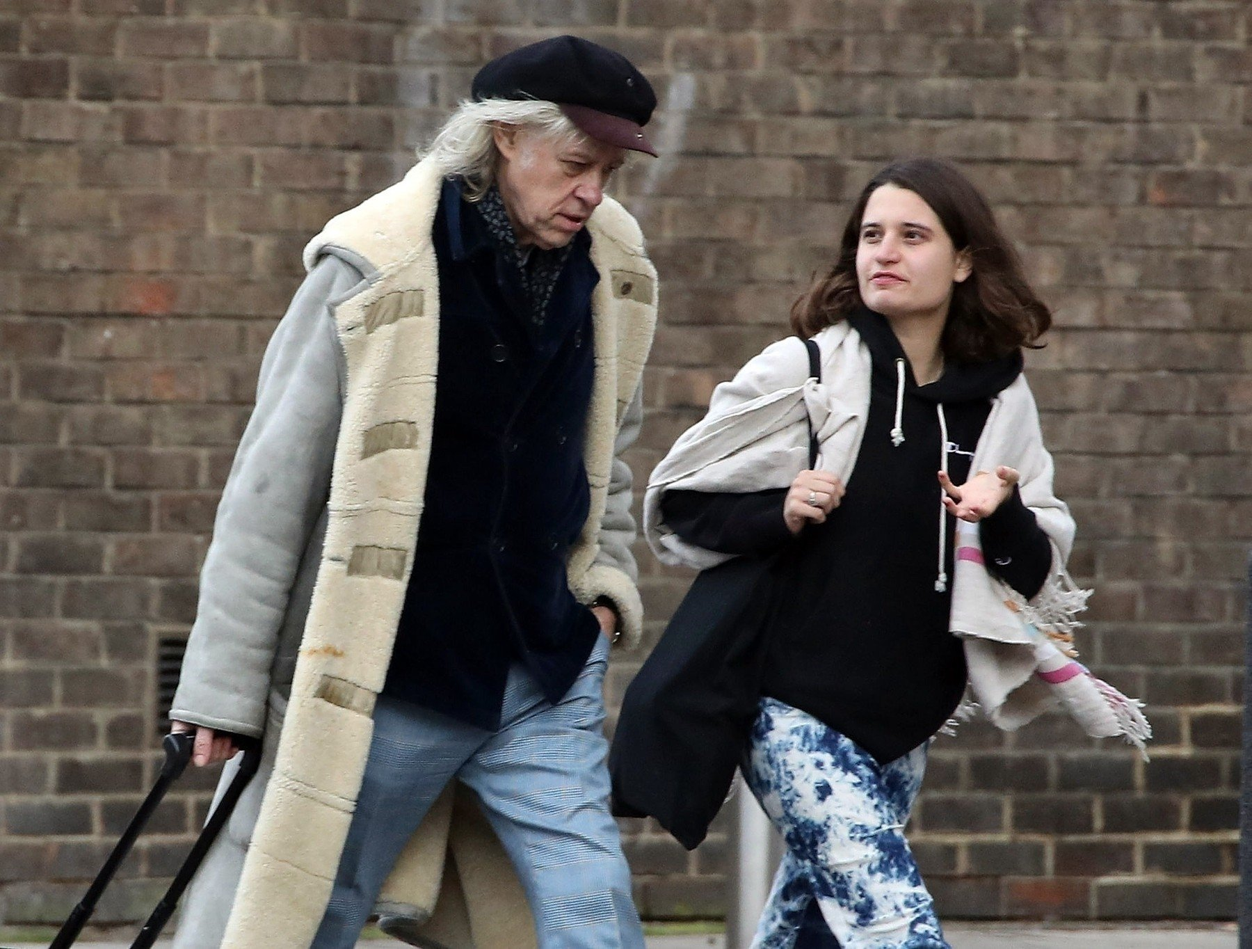 BGUK_1478303 - London, UNITED KINGDOM  - *EXCLUSIVE*  - WEB MUST CALL FOR PRICING Sir Bob Geldof dressed appropriately in a fur coat from the winter chill is spotted with daughter Tiger Lily Hutchence out on the Kings Road, Chelsea. Sir Bob has recently announced that he is undergoing an exciting project by touring Australia in March as part of a speaking tour.  Late INXS frontman Michael Hutchence's daughter Tiger Lily has also been in the news last year after reports claimed she is dating the Aussie rocker Nicholas Allbrook. *PICTURES TAKEN ON 06/02/2019*  Pictured: Bob Geldof and Tiger Lily Hutchence  BACKGRID UK 8 FEBRUARY 2019, Image: 412690601, License: Rights-managed, Restrictions: , Model Release: no, Credit line: Profimedia, Backgrid UK