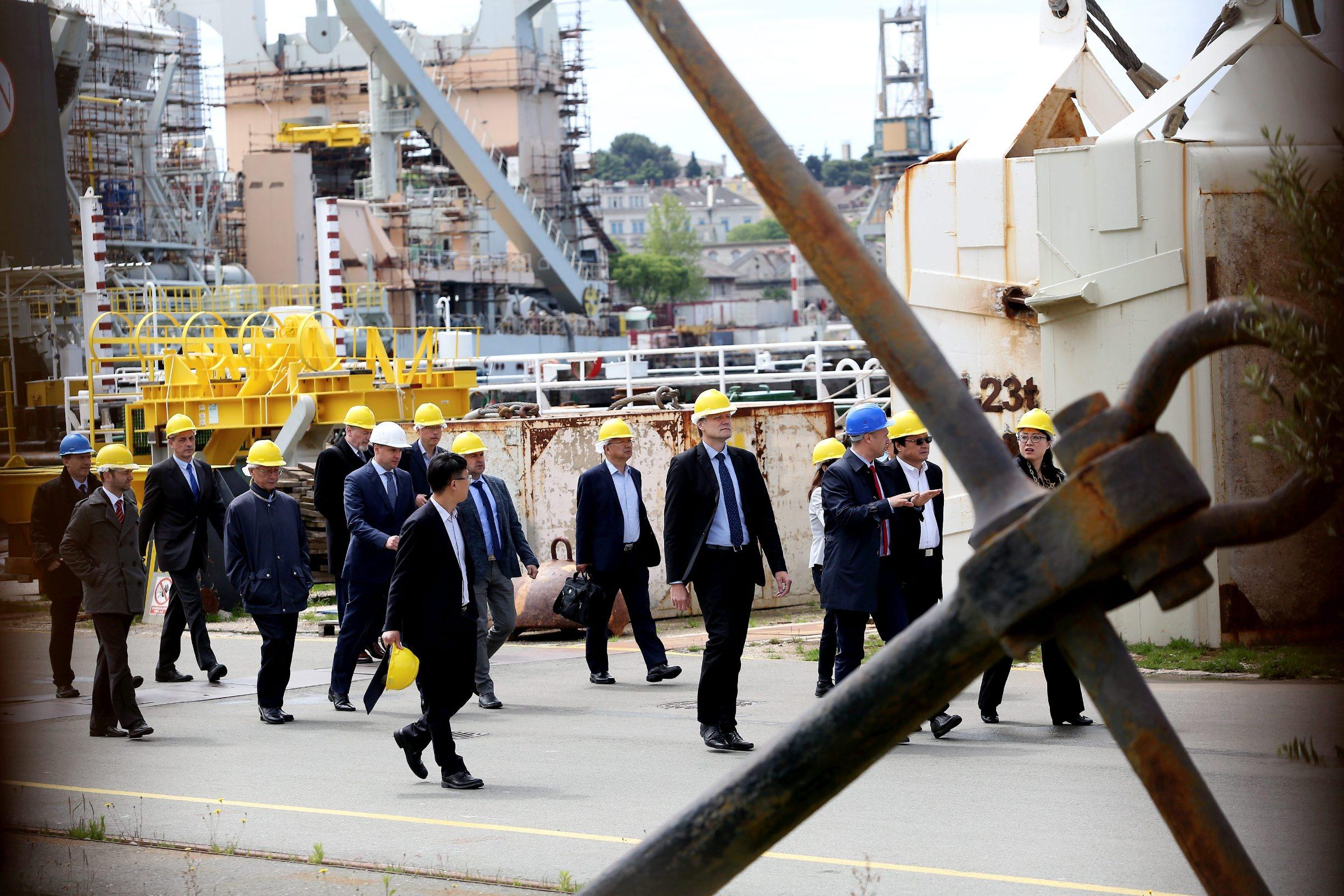 Potencijalni kineski ulagači iz tvrtke China Shipbuilding Industry Corporation (CSIC) u obilasku Uljanika
