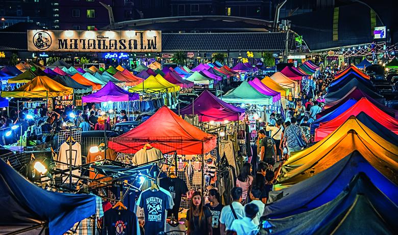 8 March 2017, Colorful new Rod Fai market in Ratchadapisek in Bangkok