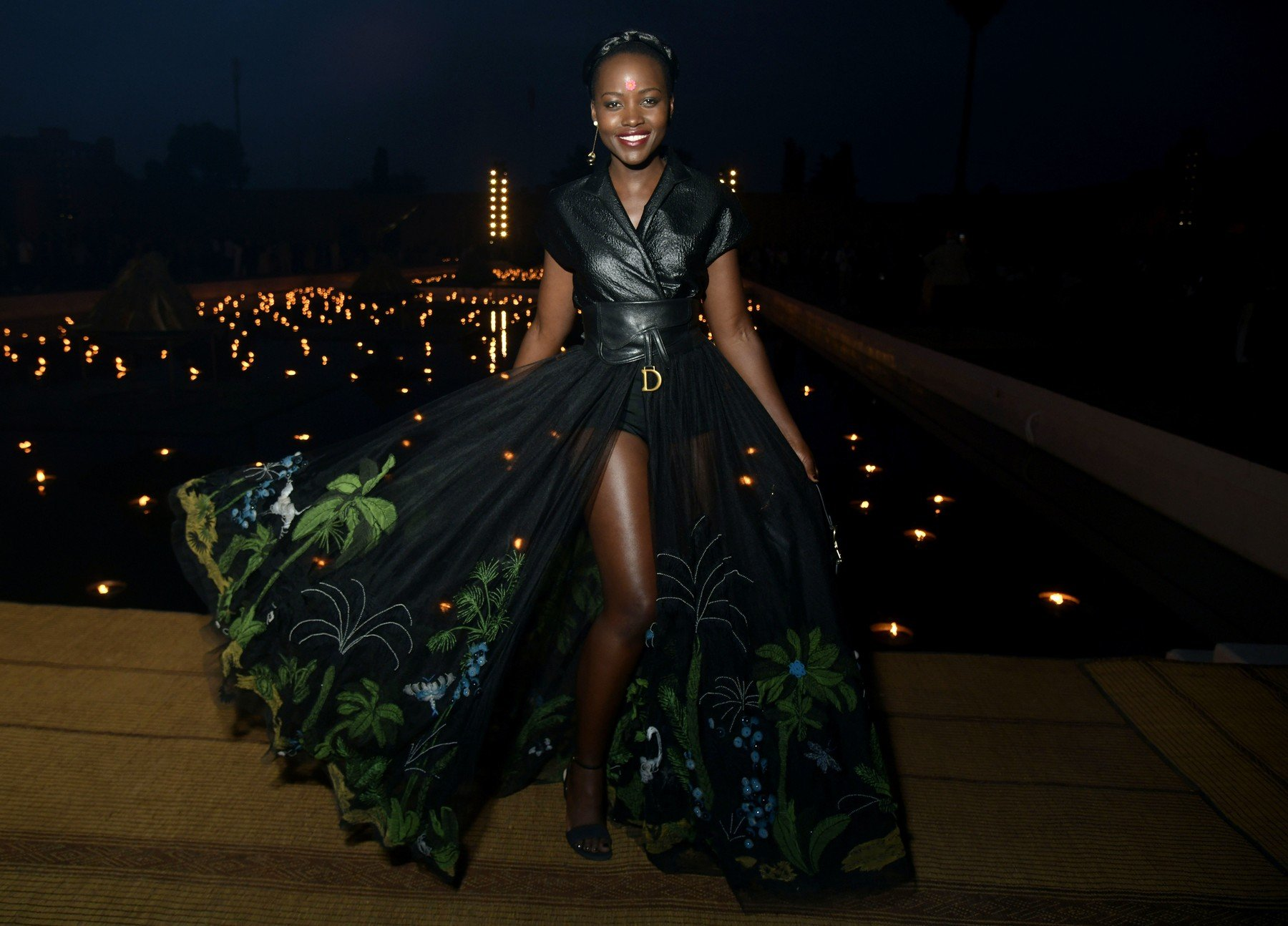 Lupita Nyong'o in the front row Dior Cruise 2020 show, Front Row, Palais El Badi, Marrakech, Morocco - 29 Apr 2019, Image: 429654324, License: Rights-managed, Restrictions: , Model Release: no, Credit line: Profimedia, TEMP Rex Features