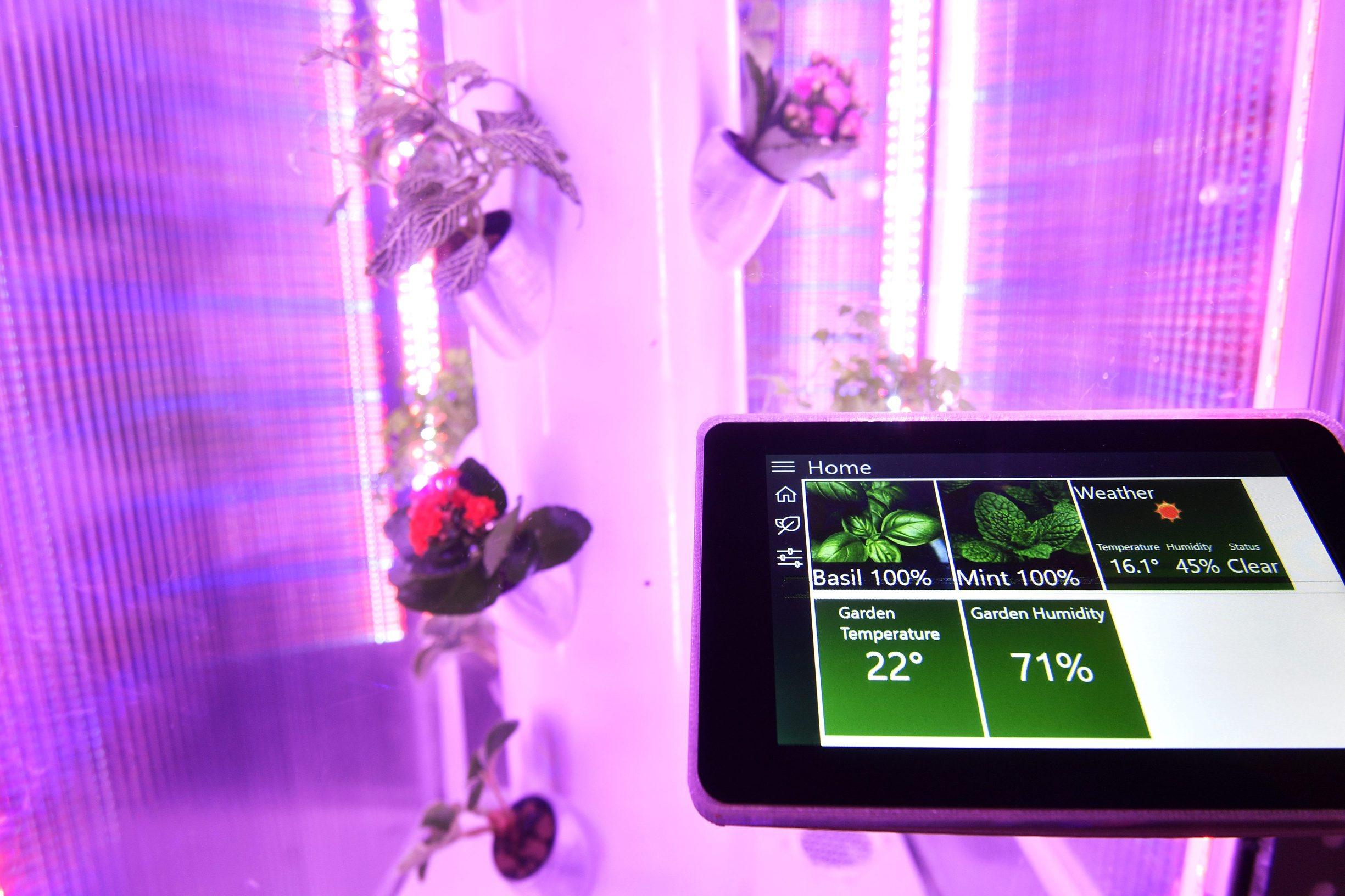 Zagreb, 250319. KSET. Javno predstavljanje najuspjesnijih studentskih inovacija na FER-u kao zavrsnica programa Imagine, Create, Innovate: Smart City kroz koji su ideje uoblicene u prototipove, a zatim i u tehnicke inovacije koje nastavljaju pricu u poslovnom okruzenju kroz patent, EU projektnu prijavu i sajam u Dubaiju. Na fotografiji: projekt Urbani vrt. Foto: Boris Kovacev / CROPIX