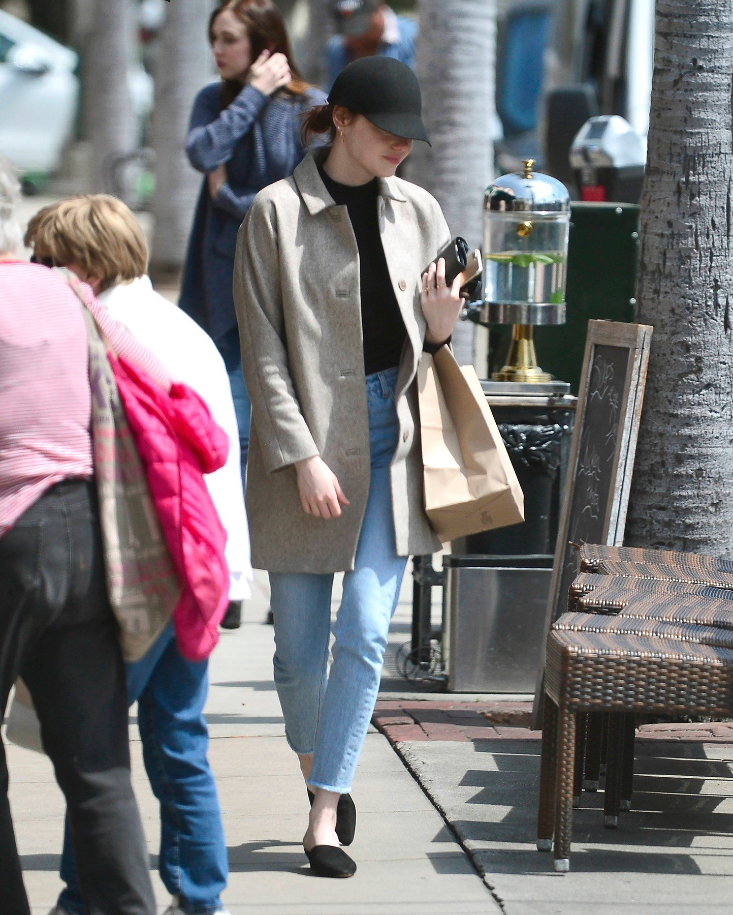 EXCLUSIVE: Emma Stone makes a rare public outing as she is seen wearing an engagement ring amid rumors her boyfriend Dave Mccary proposed to her over the holidays. 03 Apr 2019, Image: 424252932, License: Rights-managed, Restrictions: World Rights, Model Release: no, Credit line: Profimedia, Mega Agency