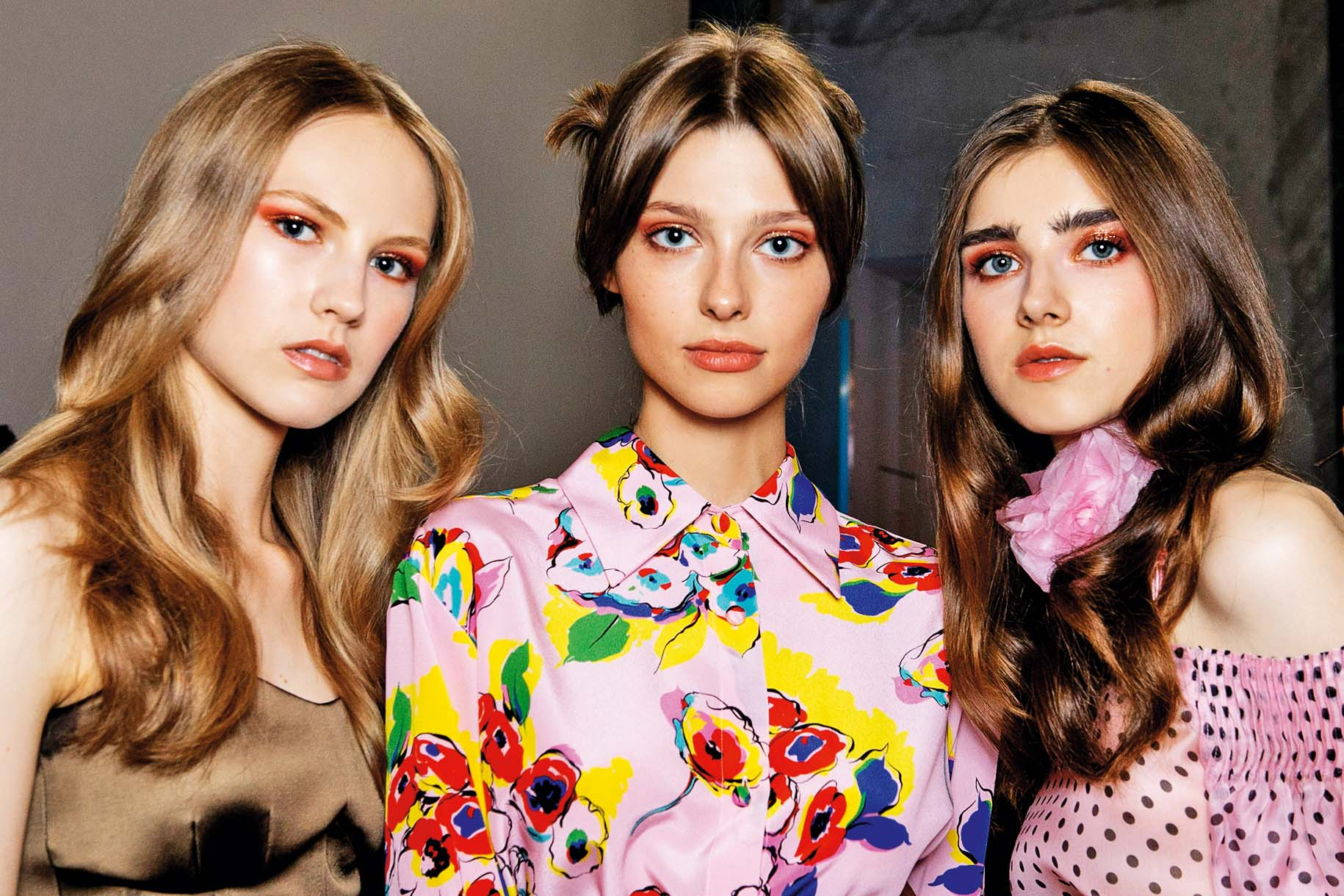 MILAN, ITALY - SEPTEMBER 18:  Models are seen backstage ahead of the Luisa Spagnoli show during Milan Fashion Week Spring/Summer 2019 on September 18, 2018 in Milan, Italy.  (Photo by Rosdiana Ciaravolo/Getty Images)