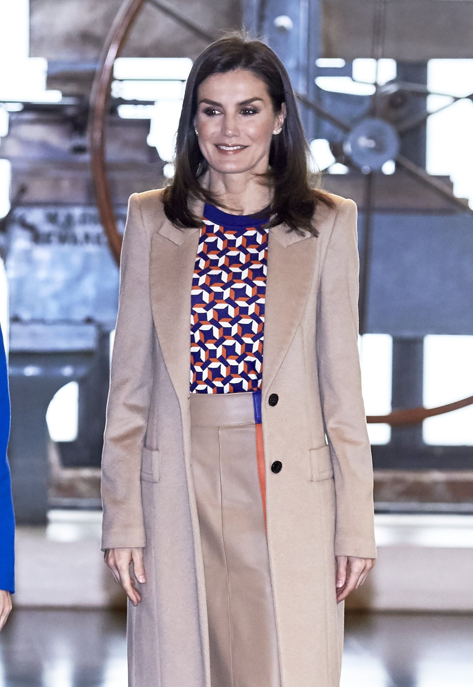 Queen Letizia of Spain visits the School of Engraving and Design of Spain's Mint (Real House of Currency) for graduation diplomas of the 'Tomas Francisco Prieto 2018 Prize' at Real Casa de la Moneda in Madrid April 08, 2019. (Spain)//CORDOBANAVALPOTRO_cordoba012817/1904081524/Credit:Miguel Cordoba/SIPA/1904081527, Image: 425106783, License: Rights-managed, Restrictions: , Model Release: no, Credit line: Profimedia, TEMP Sipa Press