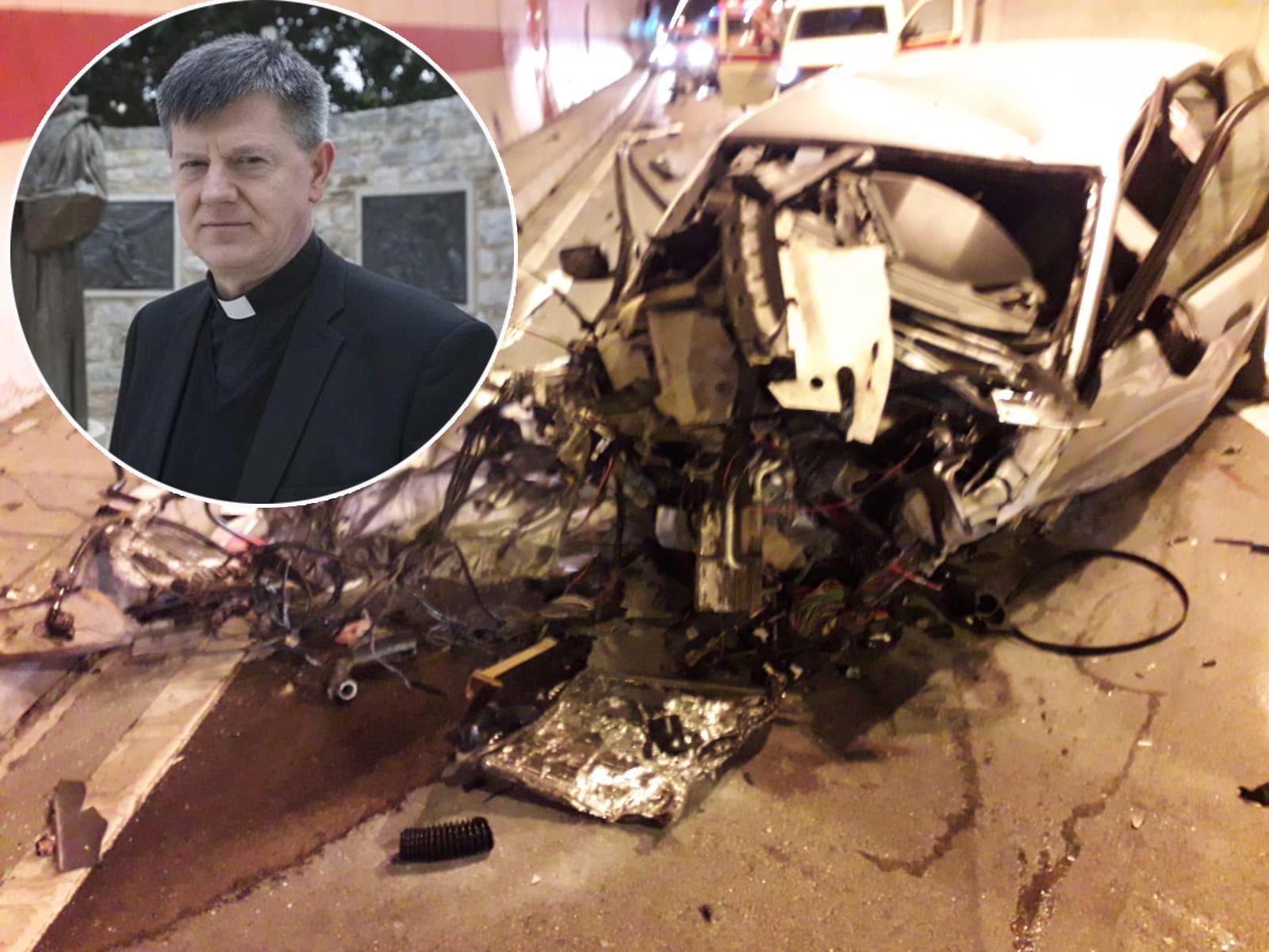 Mons. Ante Jozić teško ozlijeđen u sudaru u tunelu Sv. Ilija