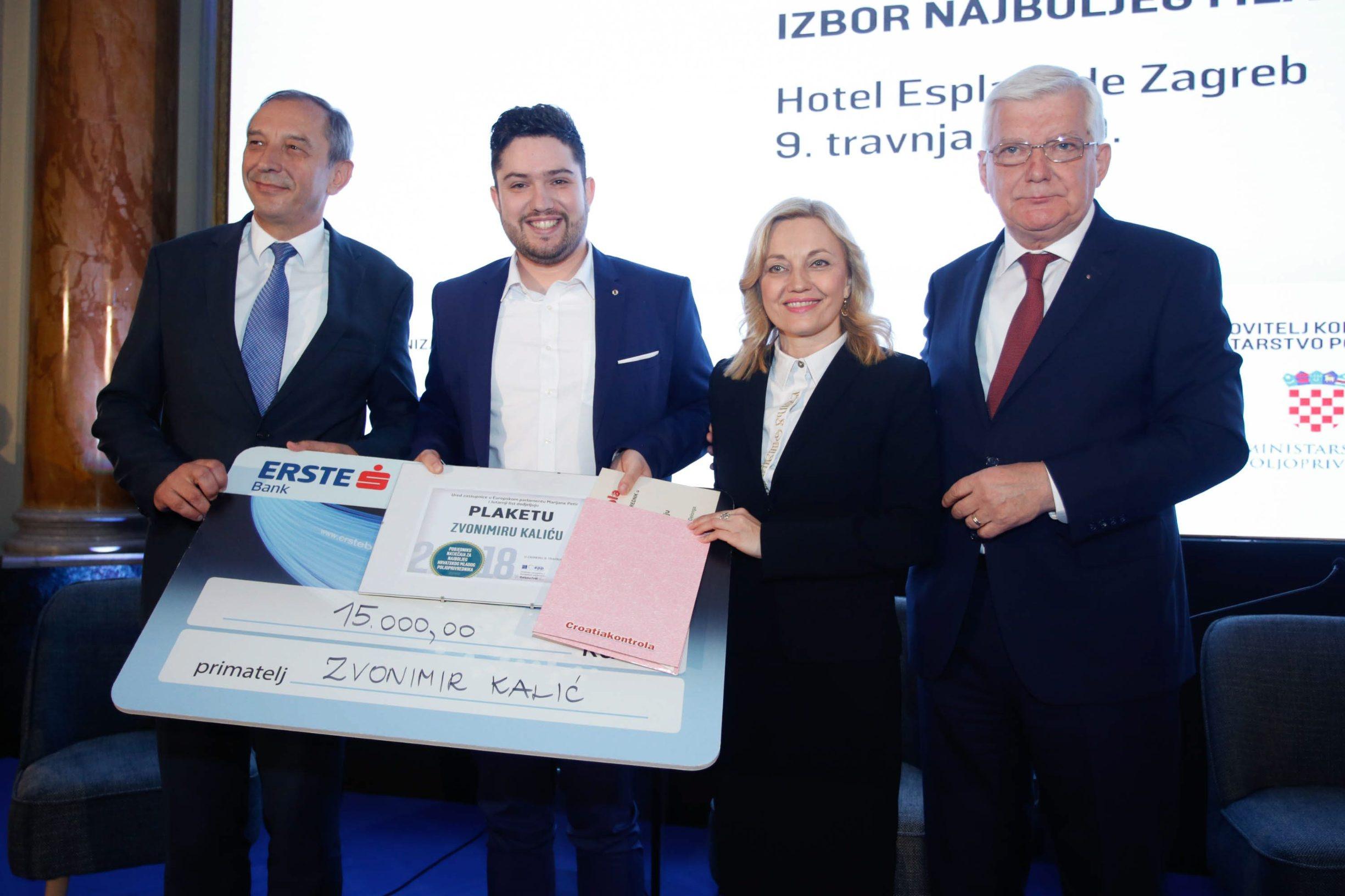 Dobitnik nagrade Zvonimir Kalić i Marijana Petir