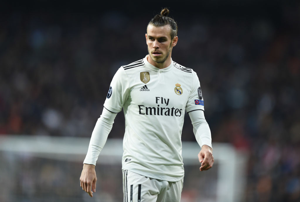MADRID, SPAIN - MARCH 05:  Gareth Bale of Real Madrid looks on during the UEFA Champions League Round of 16 Second Leg match between Real Madrid and Ajax at Bernabeu on March 05, 2019 in Madrid, Spain. (Photo by Denis Doyle/Getty Images)