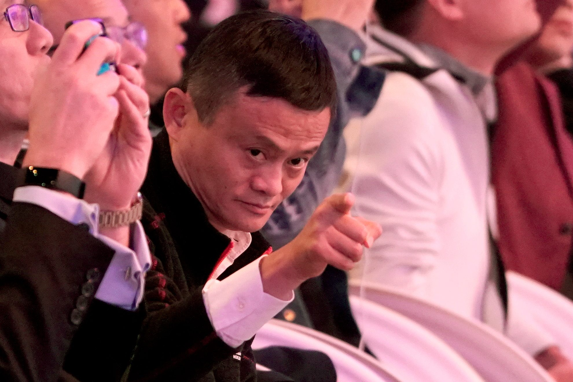 Alibaba Group co-founder and Executive Chairman Jack Ma gestures during Alibaba Group's 11.11 Singles' Day global shopping festival in Shanghai, China, November 11, 2018. REUTERS/Aly Song