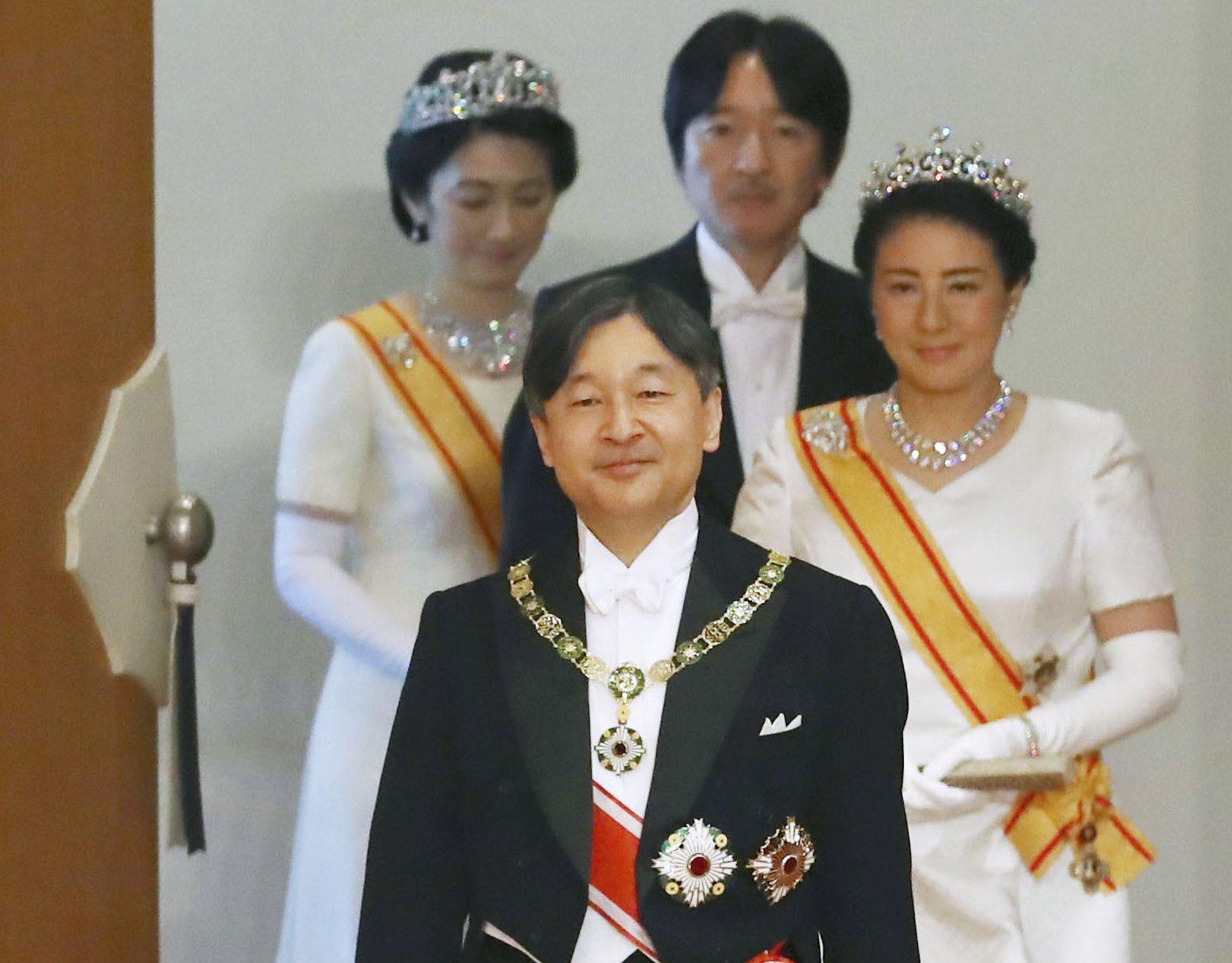 Car Naruhito, carica Masako, princ Akishino i princeza Kiko